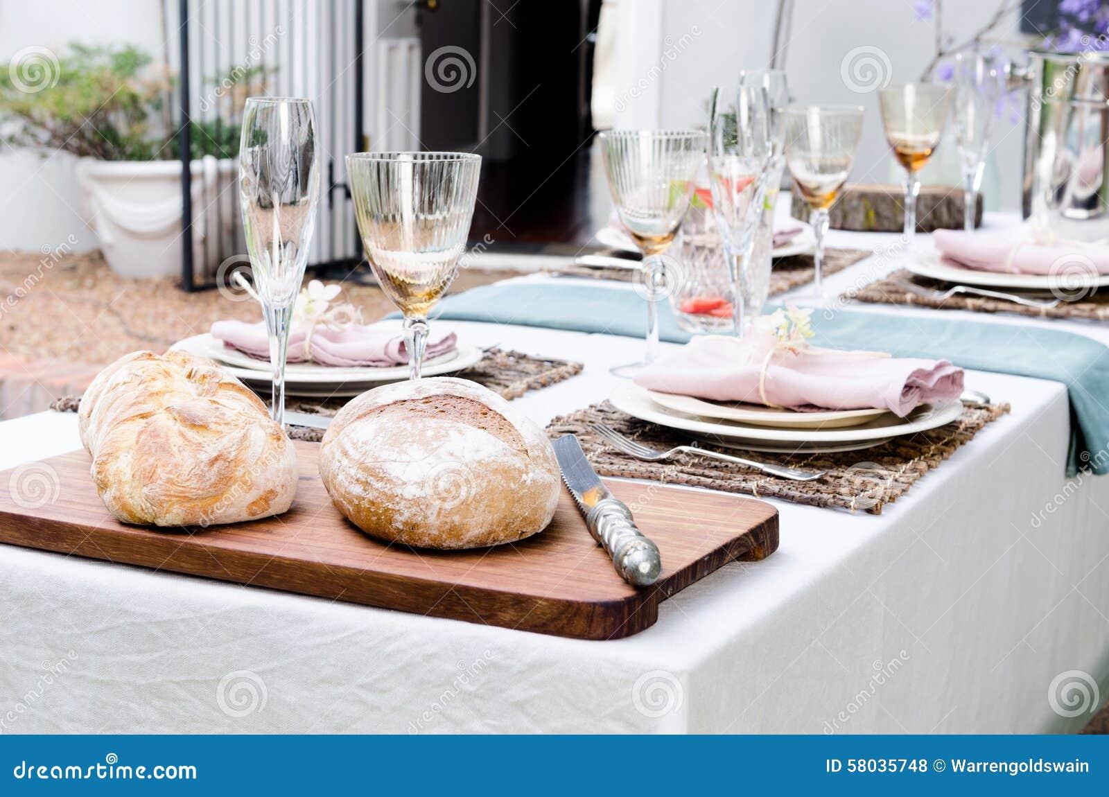 Ogrodowego przyjęcia stołu położenie