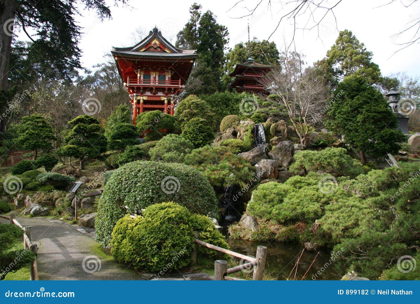 Ogrody japońskiej herbatę.