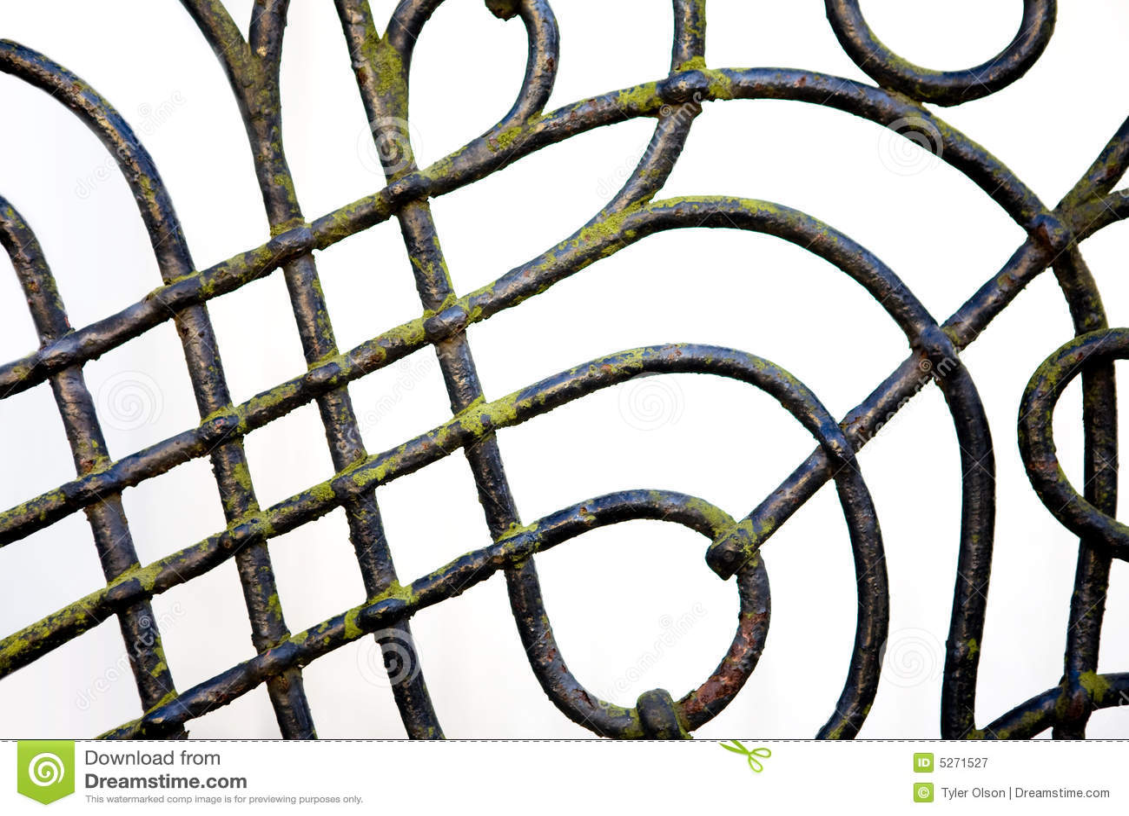 Ogrodzenie żelaza, którego szczegóły
