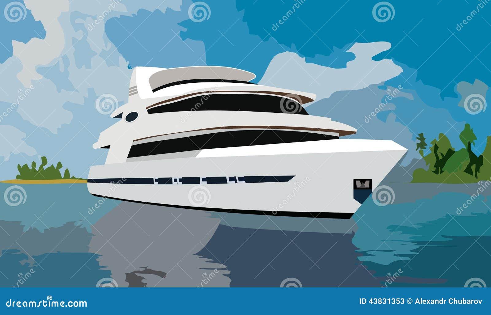 Ogromny jacht