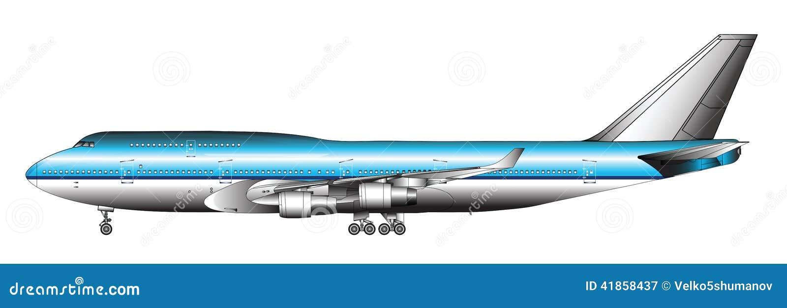 Ogromny pasażerski samolot