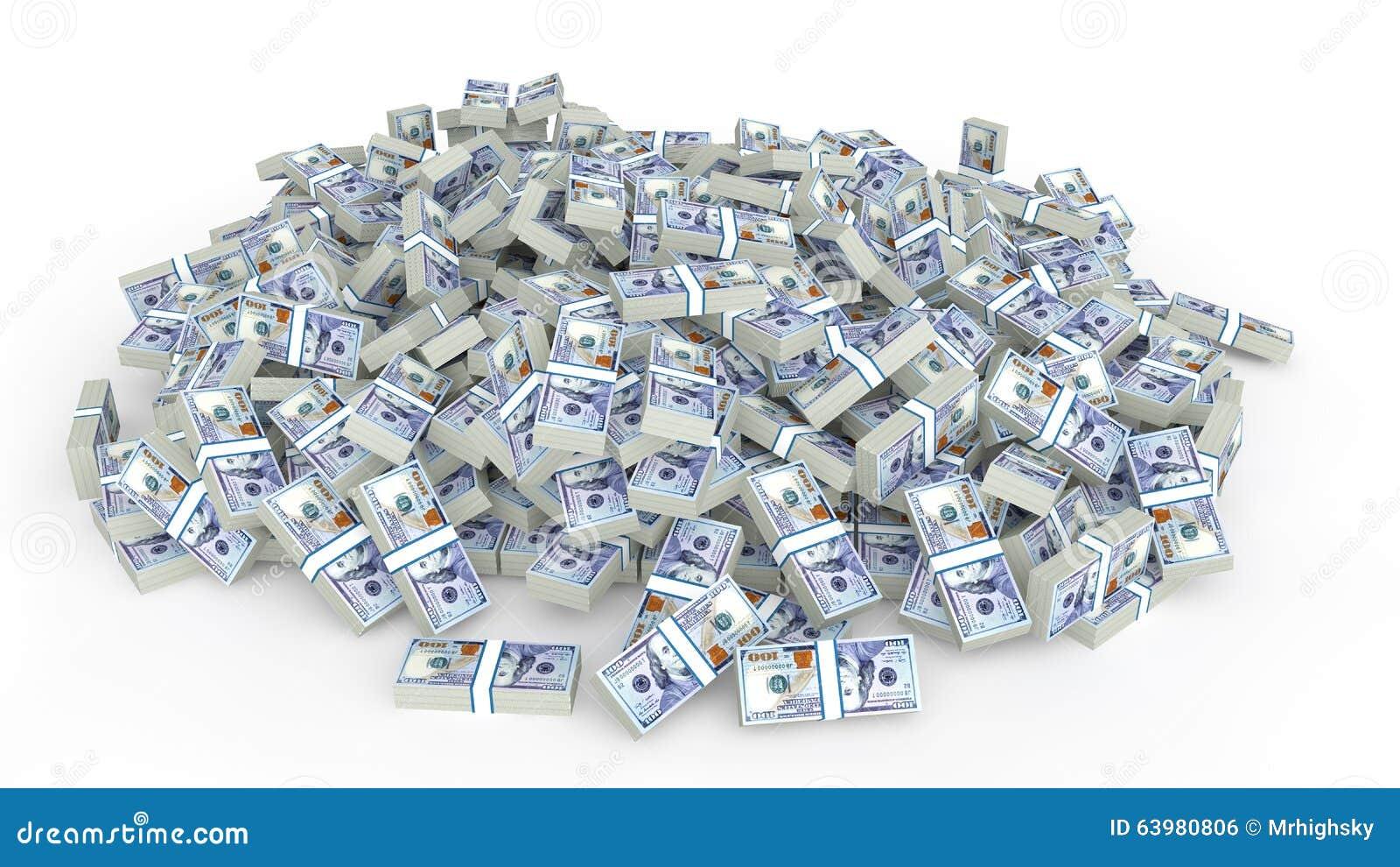 Ogromny stos dolar gotówka