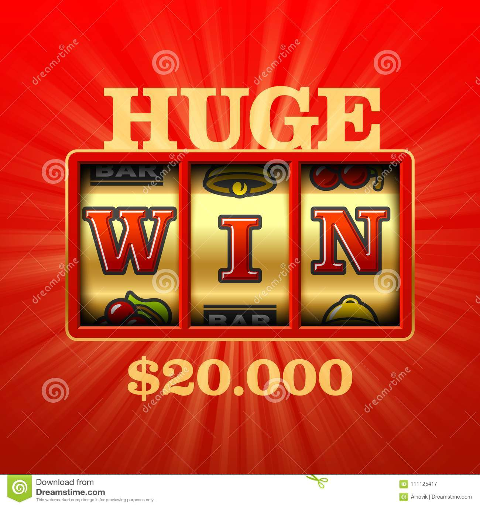 Ogromny wygrany kasyna sztandar