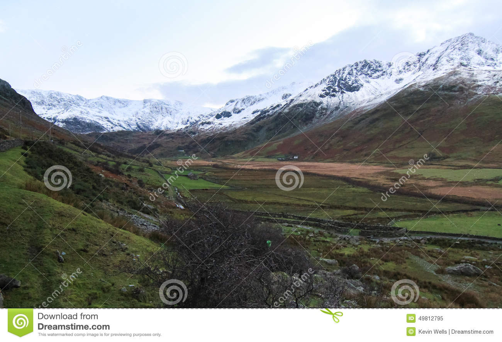 Ogwenvallei, Wales, het UK