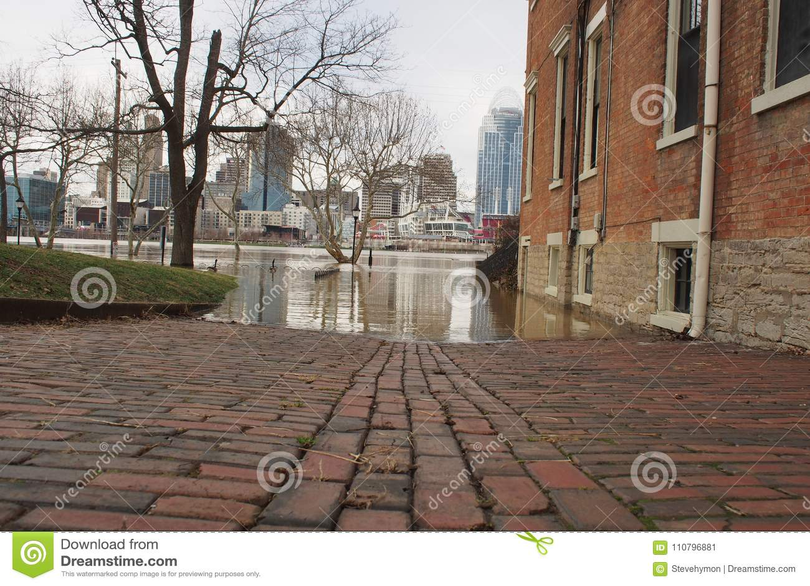Ohio River flooding 2018 in Cincinnati