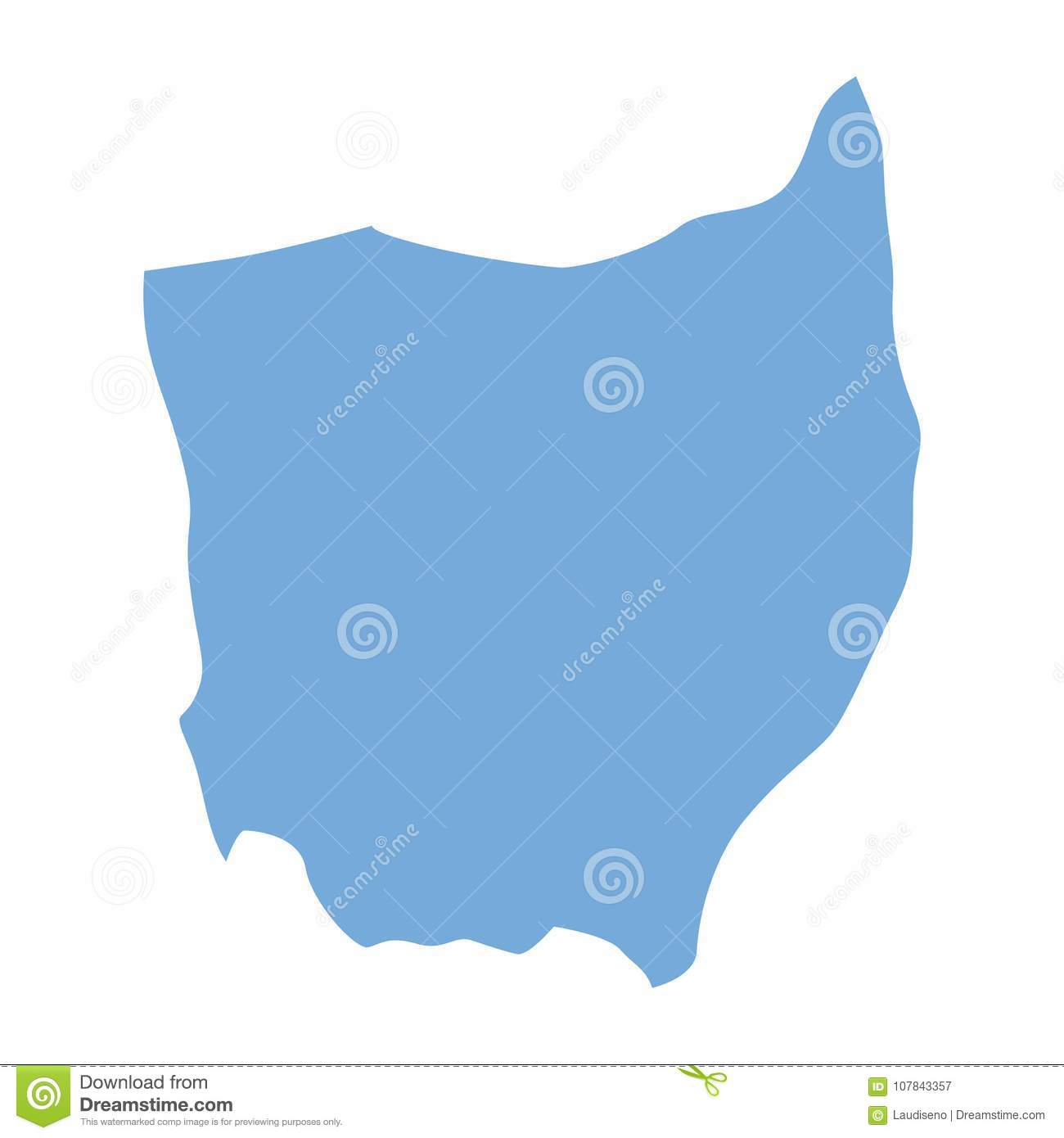 Ohio State map stock vector. Illustration of geography - 107843357