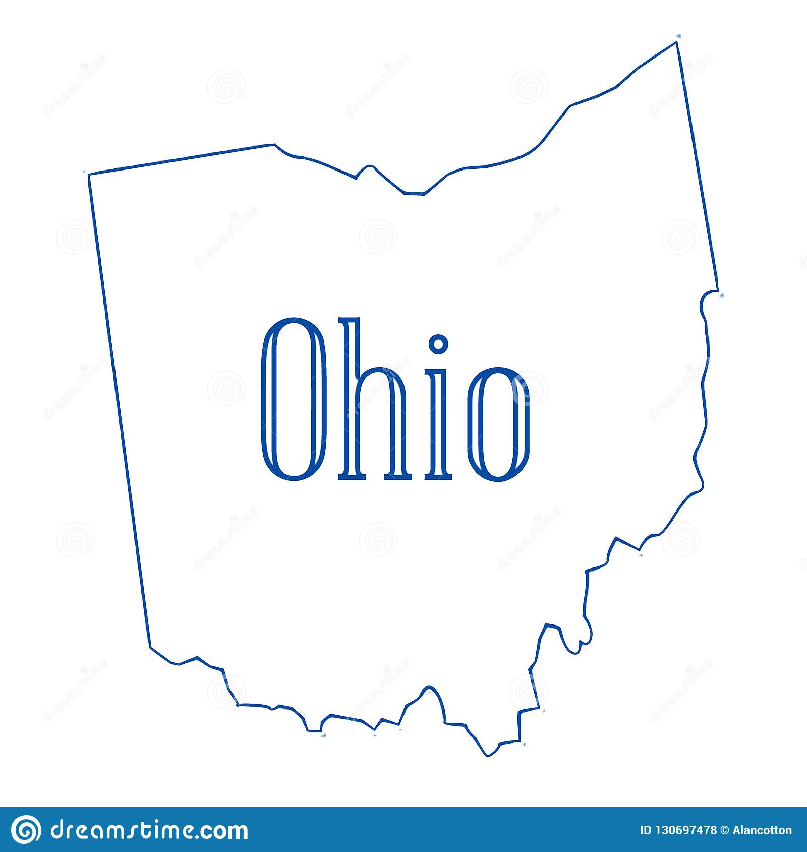 Ohio State Outline Map Stock Illustration Illustration Of Ohio