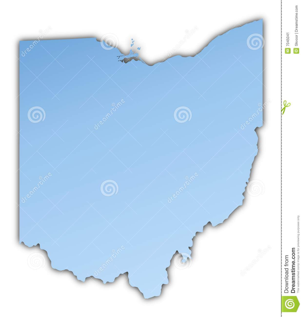 Ohio Usa Map Stock Illustration Illustration Of Mercator 7045041