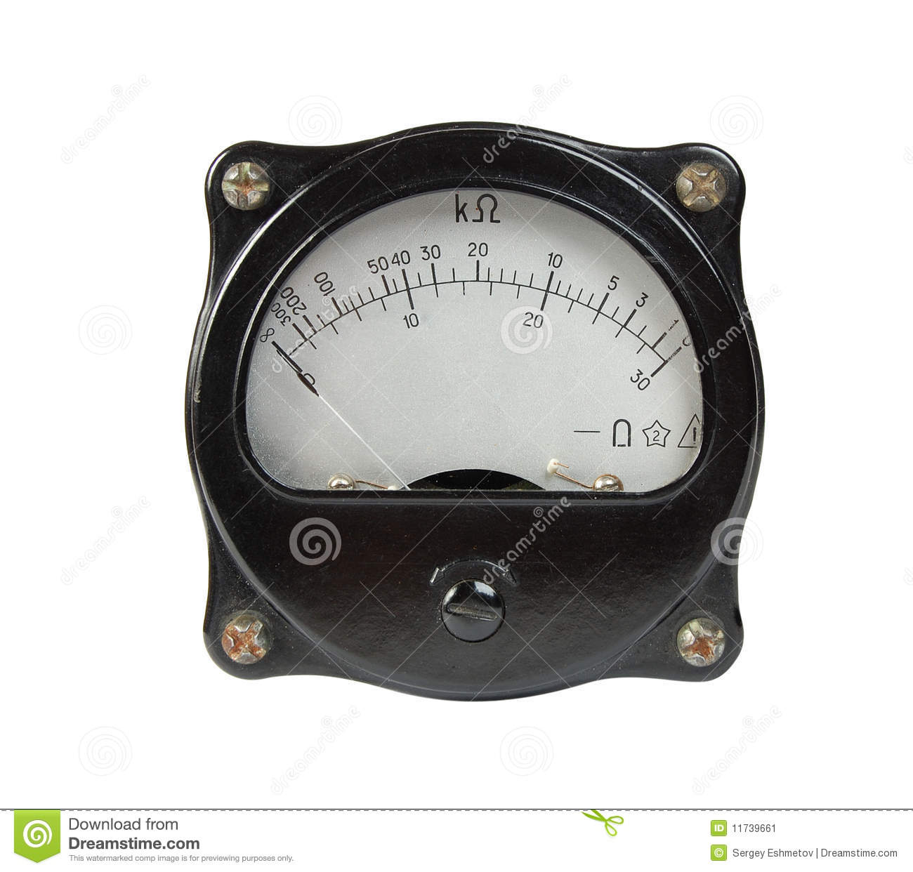 Reading An Ohmmeter : Ohmmeter stock image