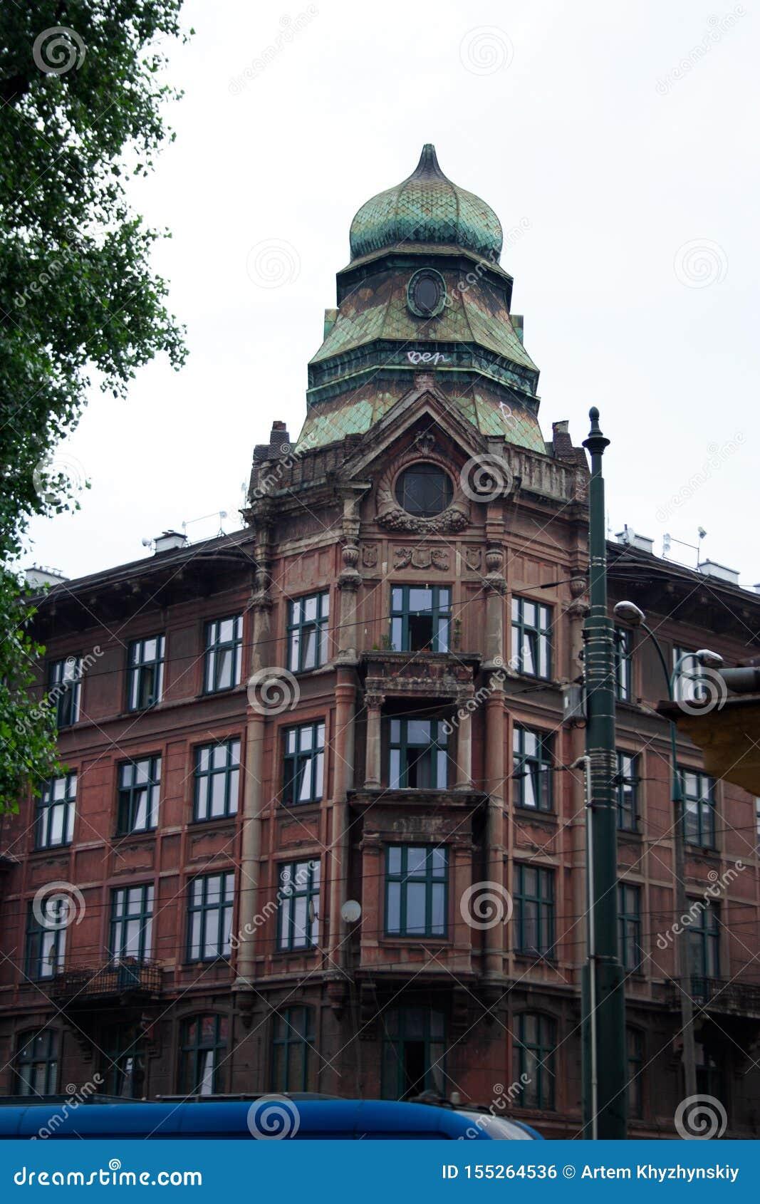 Ohrenstein domu wierza w Krakow, Polska