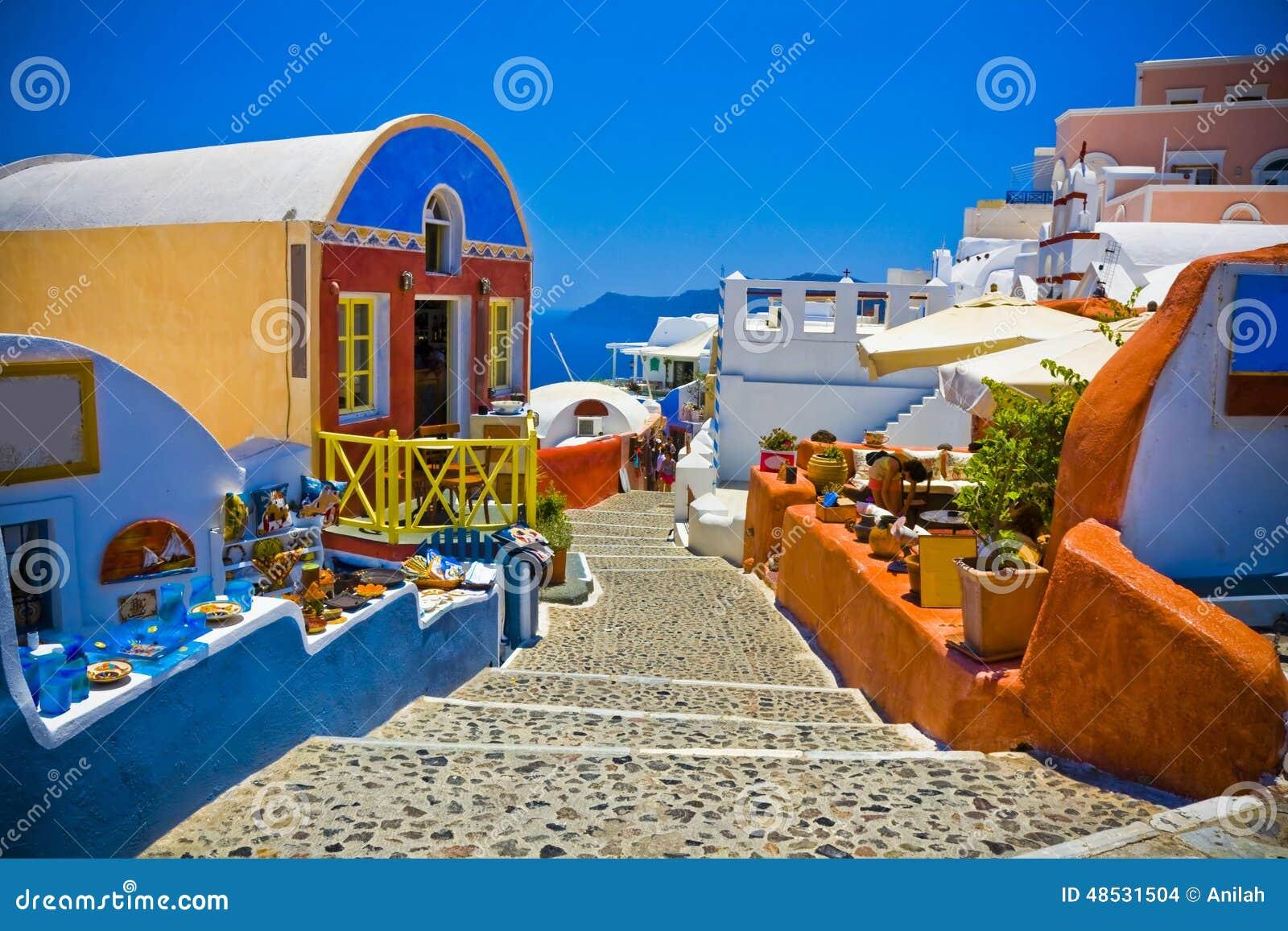 Oia på Santorini