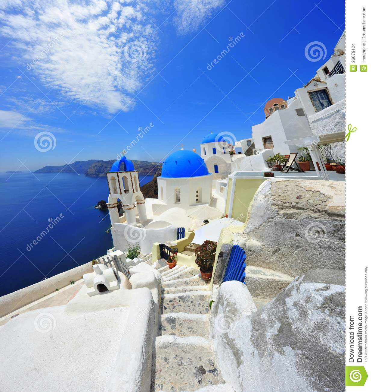 Oia Santorini Thira Greece Island White Stock Images