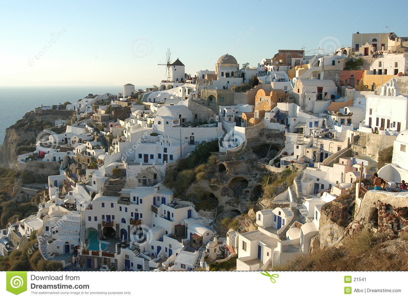 Oia at sunset