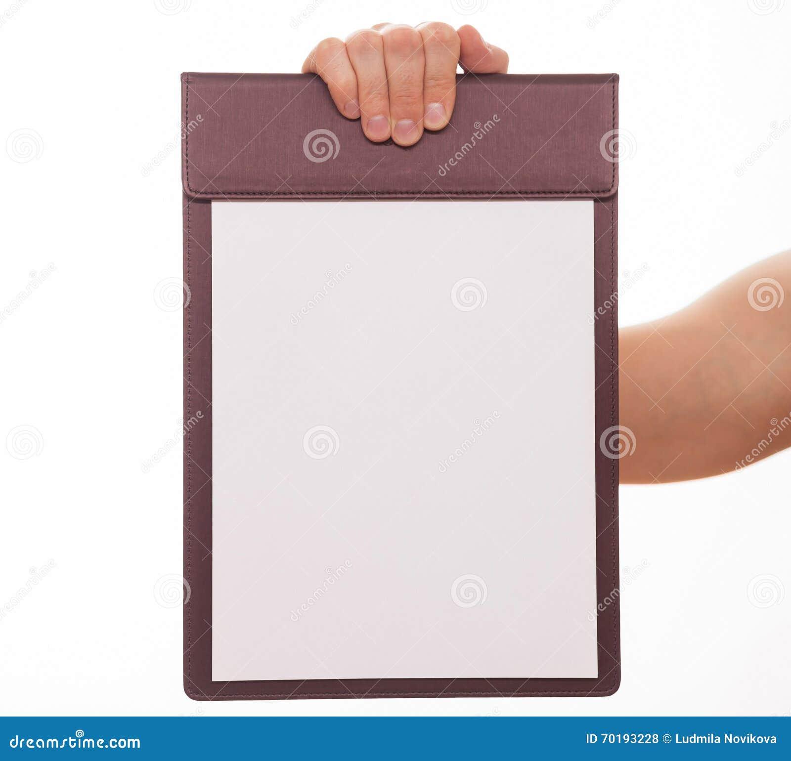 Oigenkännlig man som rymmer en skrivplatta