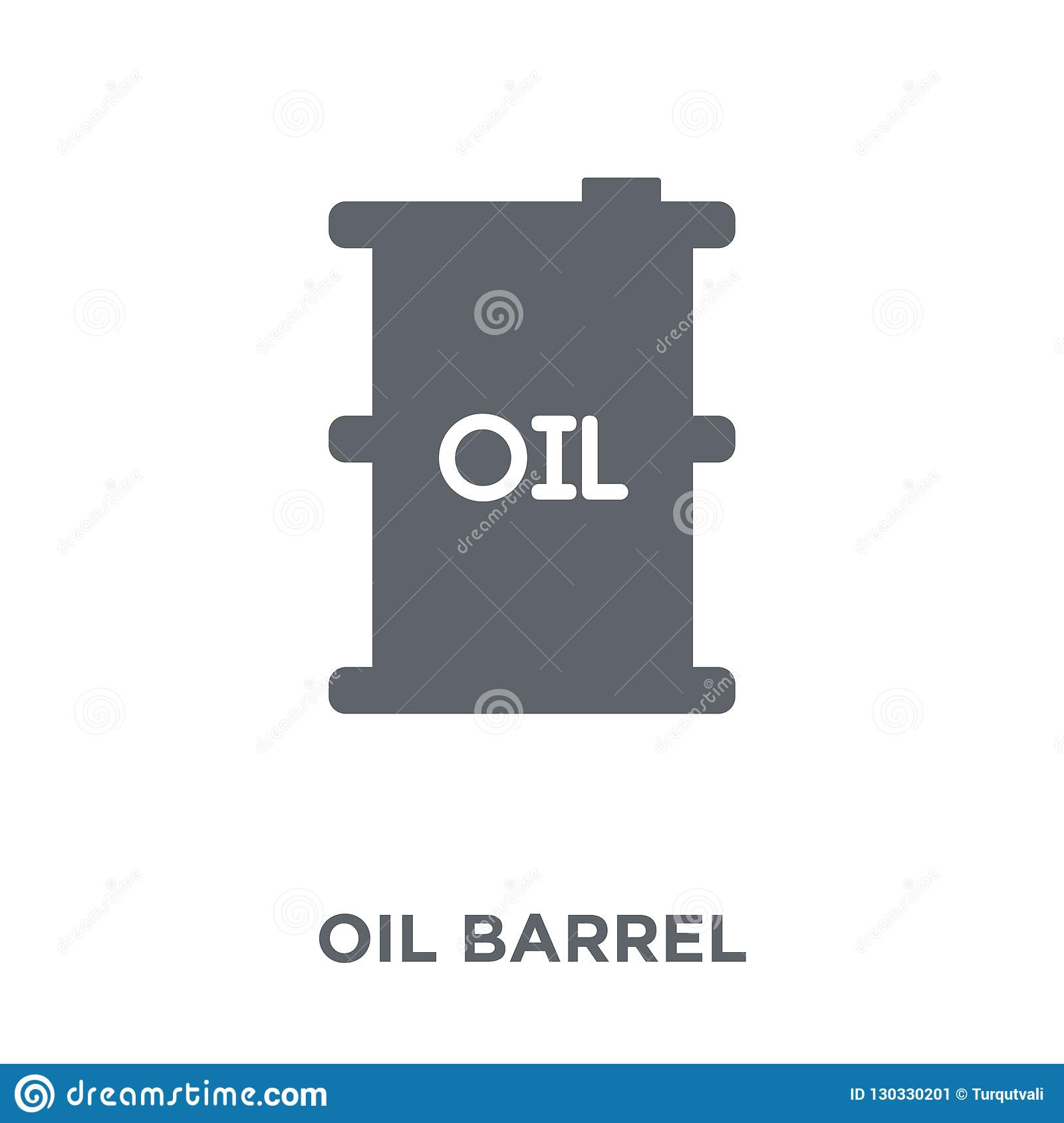 Oil barrel icon from Industry collection.