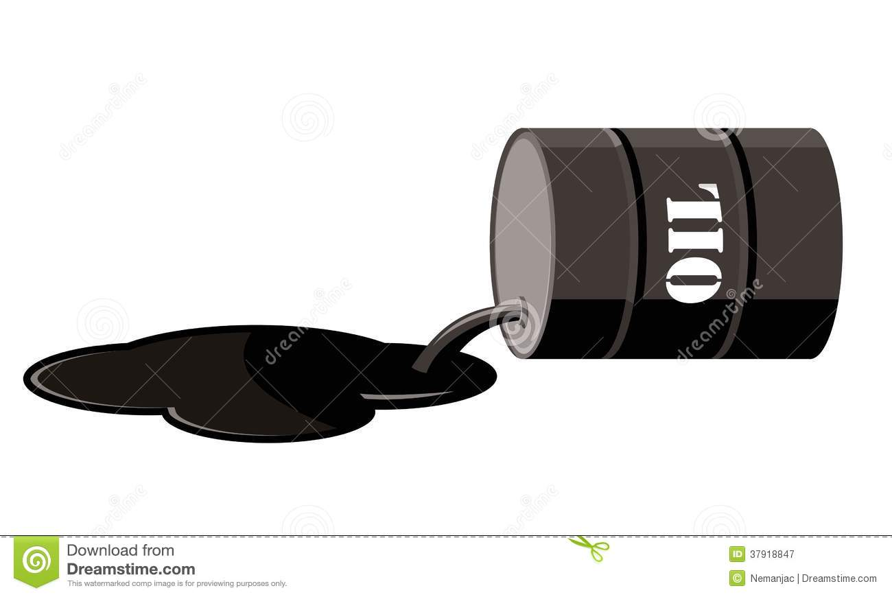 Oil Barrel Spill Royalty Free Stock Photography - Image: 37918847