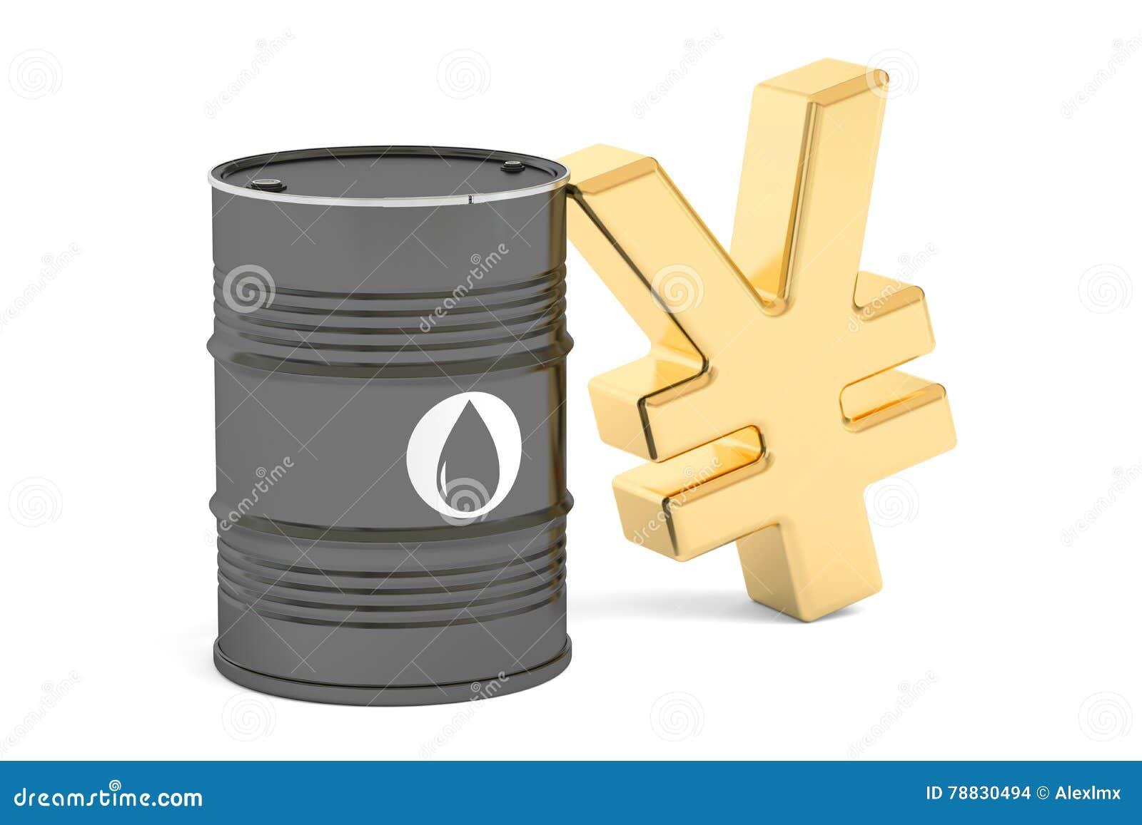 Oil barrel and yuan symbol 3d rendering stock illustration oil barrel and yuan symbol 3d rendering biocorpaavc