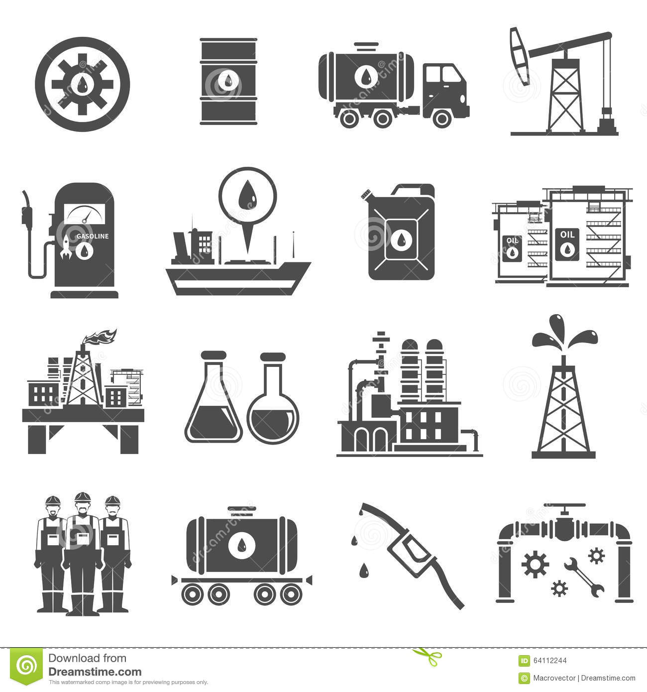 Oil and gas industry black and white icons stock illustration oil black white icons set stock images biocorpaavc