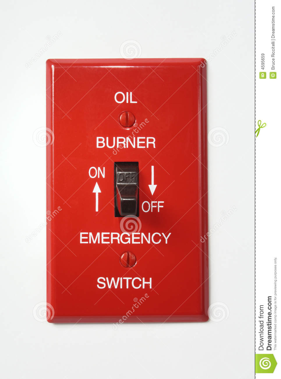 Oil Burner Emergency Switch Off Stock Image Image Of