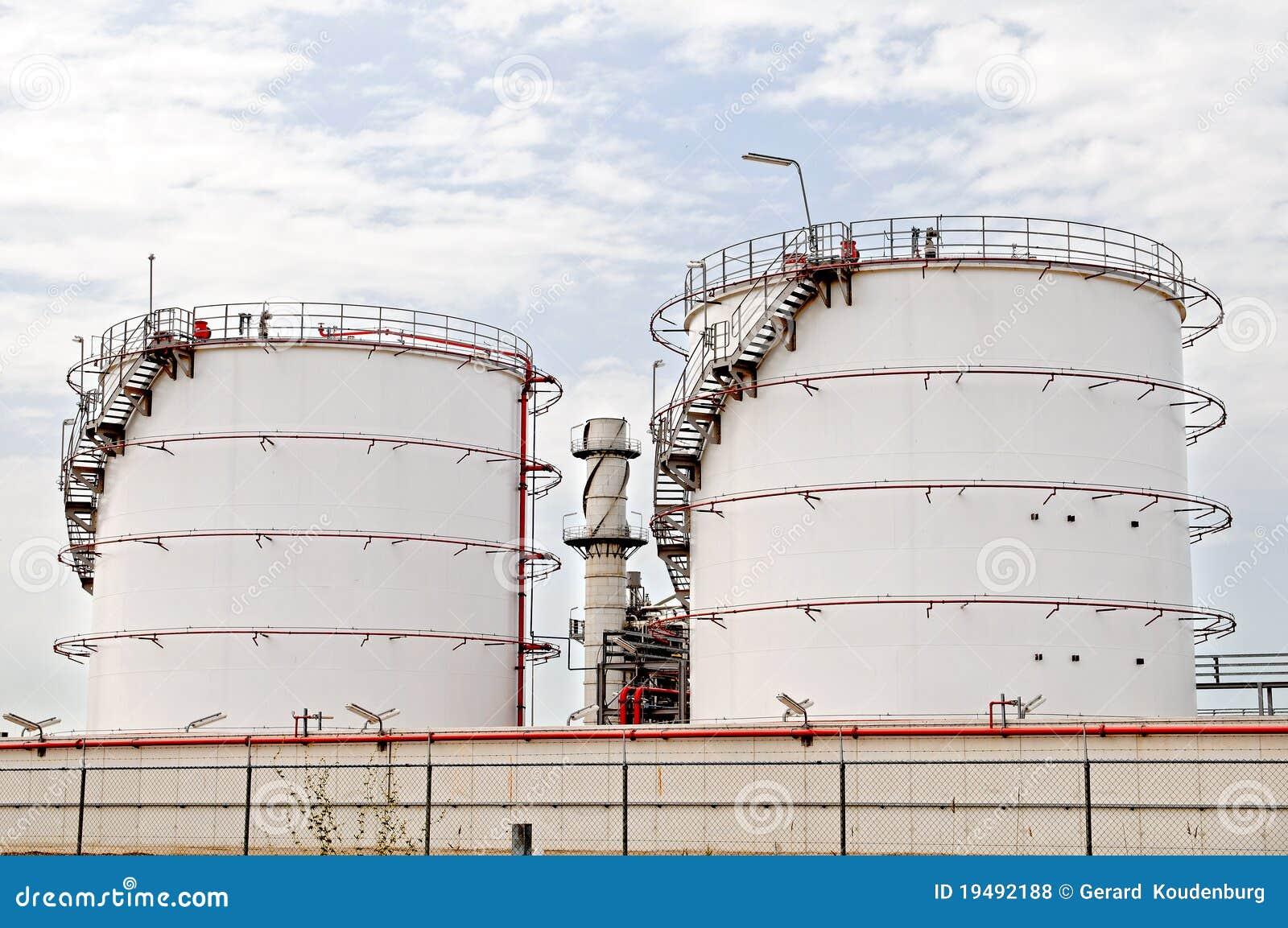 Oil Depot Storage Tanks Royalty Free Stock Photos Image