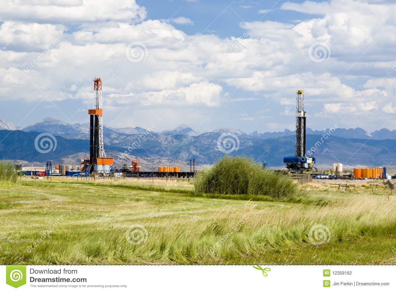 Download Oil Drilling Rigs stock photo. Image of drilling, natural - 12359162