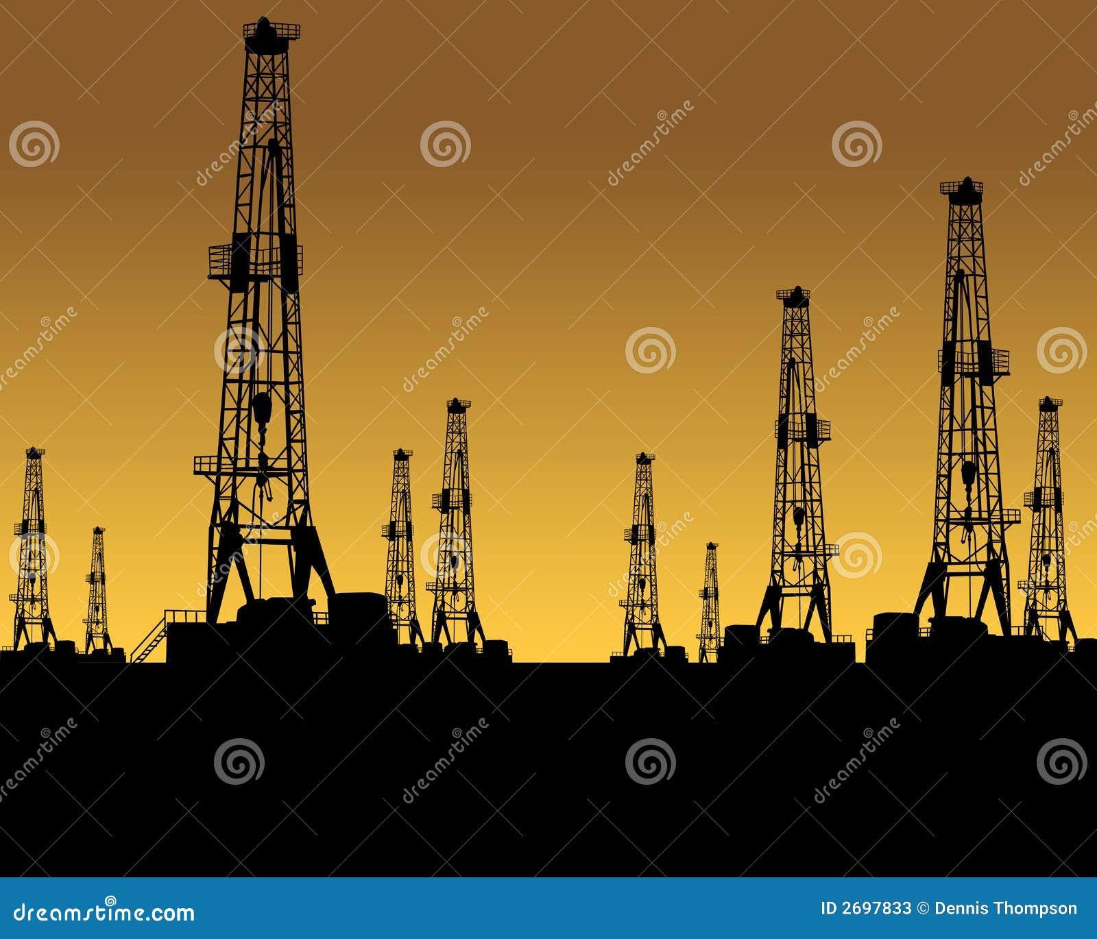 Oil Gas Industry Stock Illustration Illustration Of Field