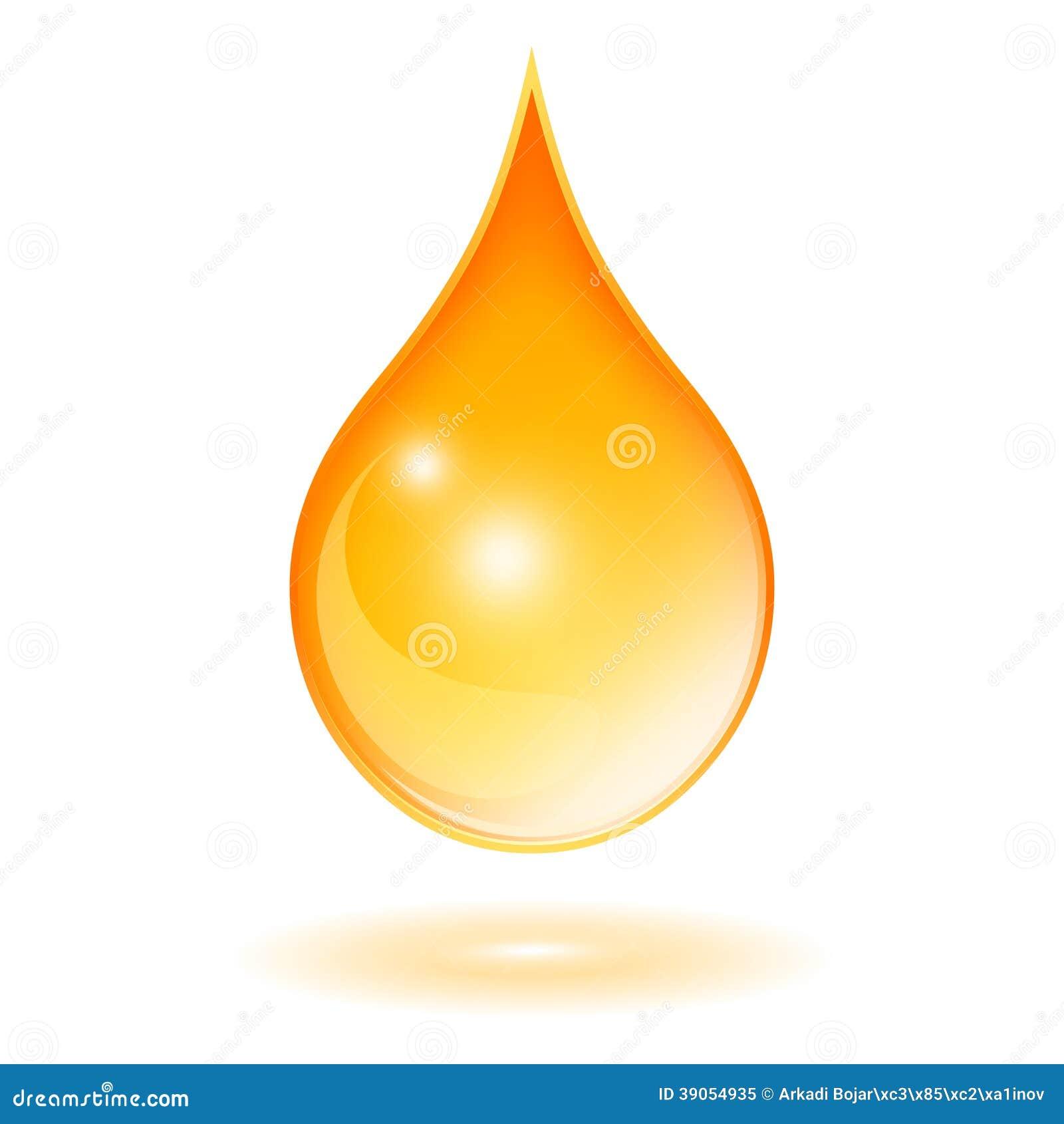 Oil Drop Stock Vector Image 39054935