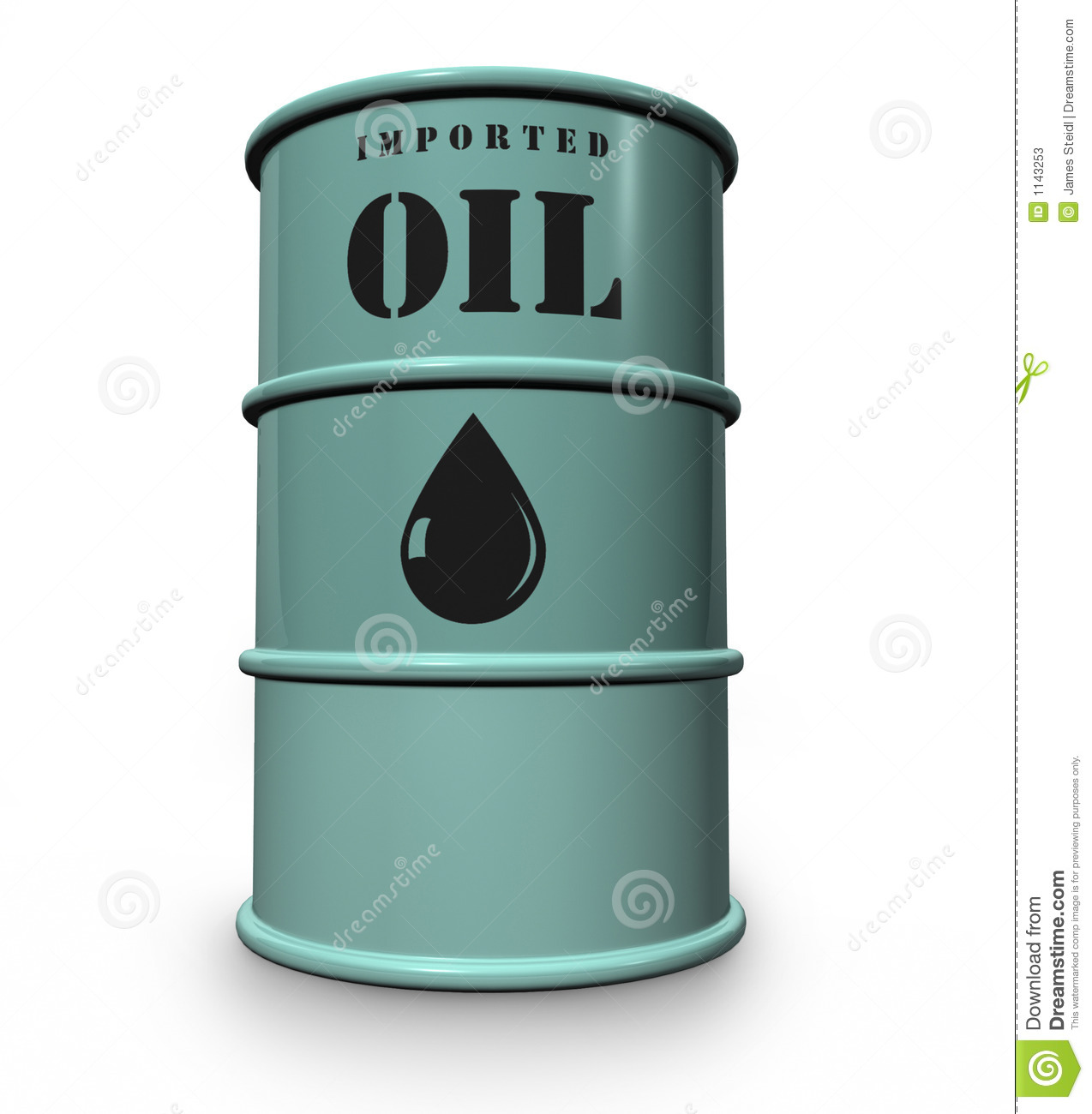Oil Drum Stock Illustration Image Of Petrol Crude