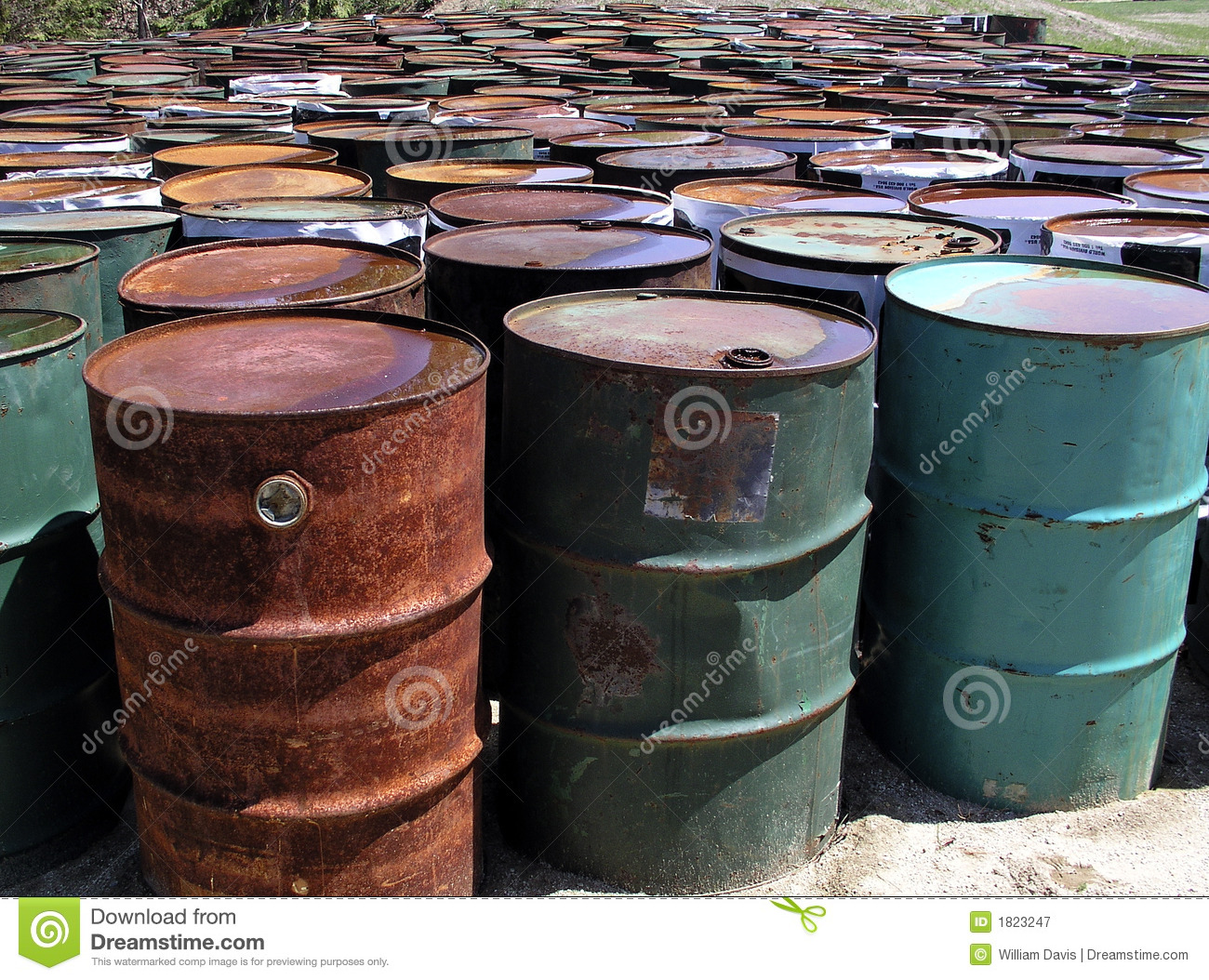 Oil Drums Stock Image Image Of Weathered Container