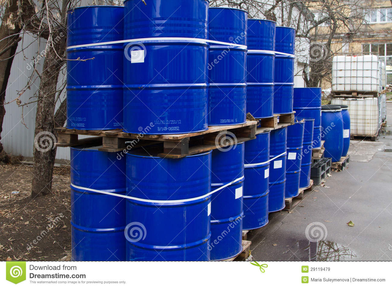 Oil Drums And Chemical Containers Stock Image Image of symbol