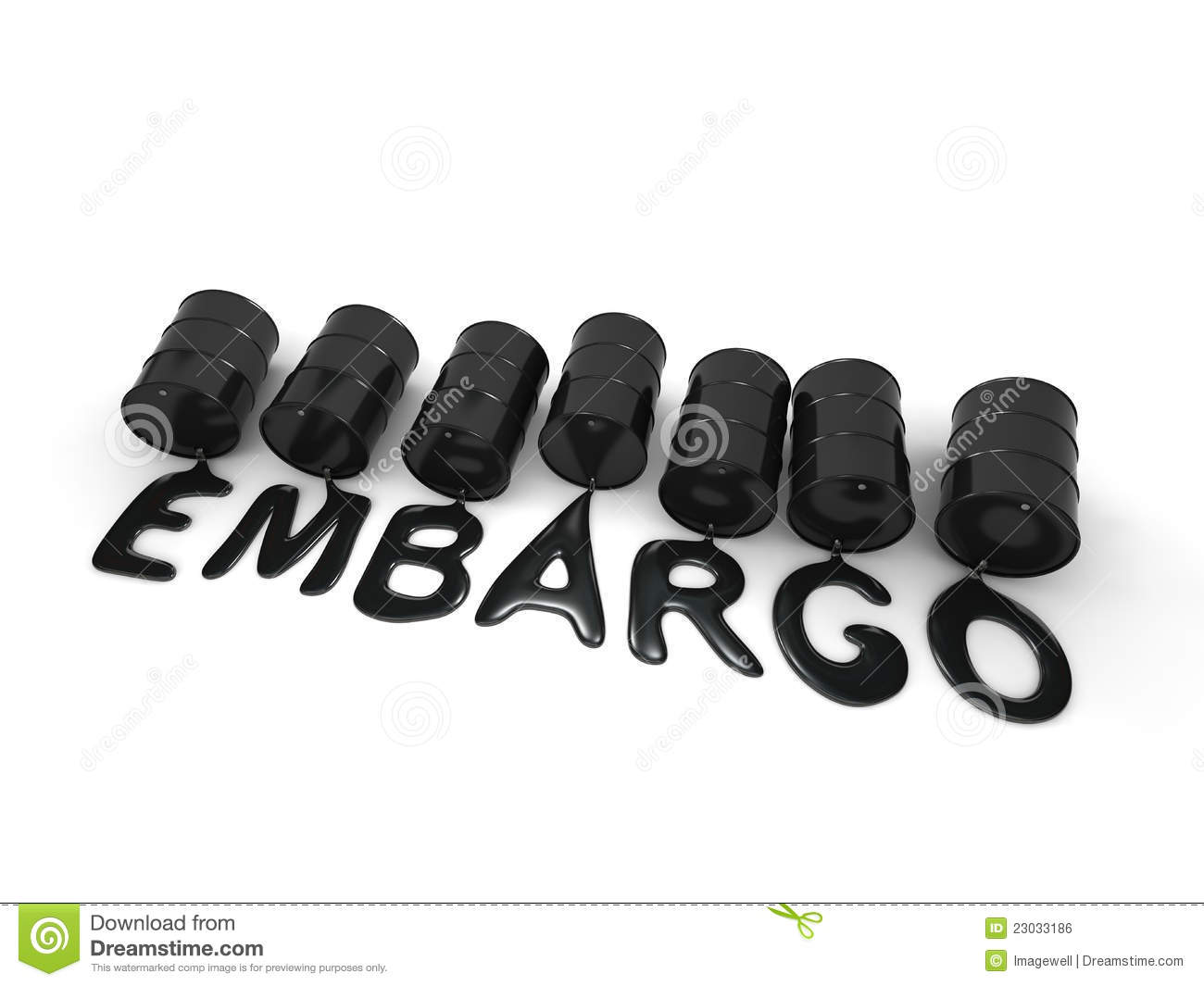 Oil Embargo Royalty Free Stock Image Image 23033186
