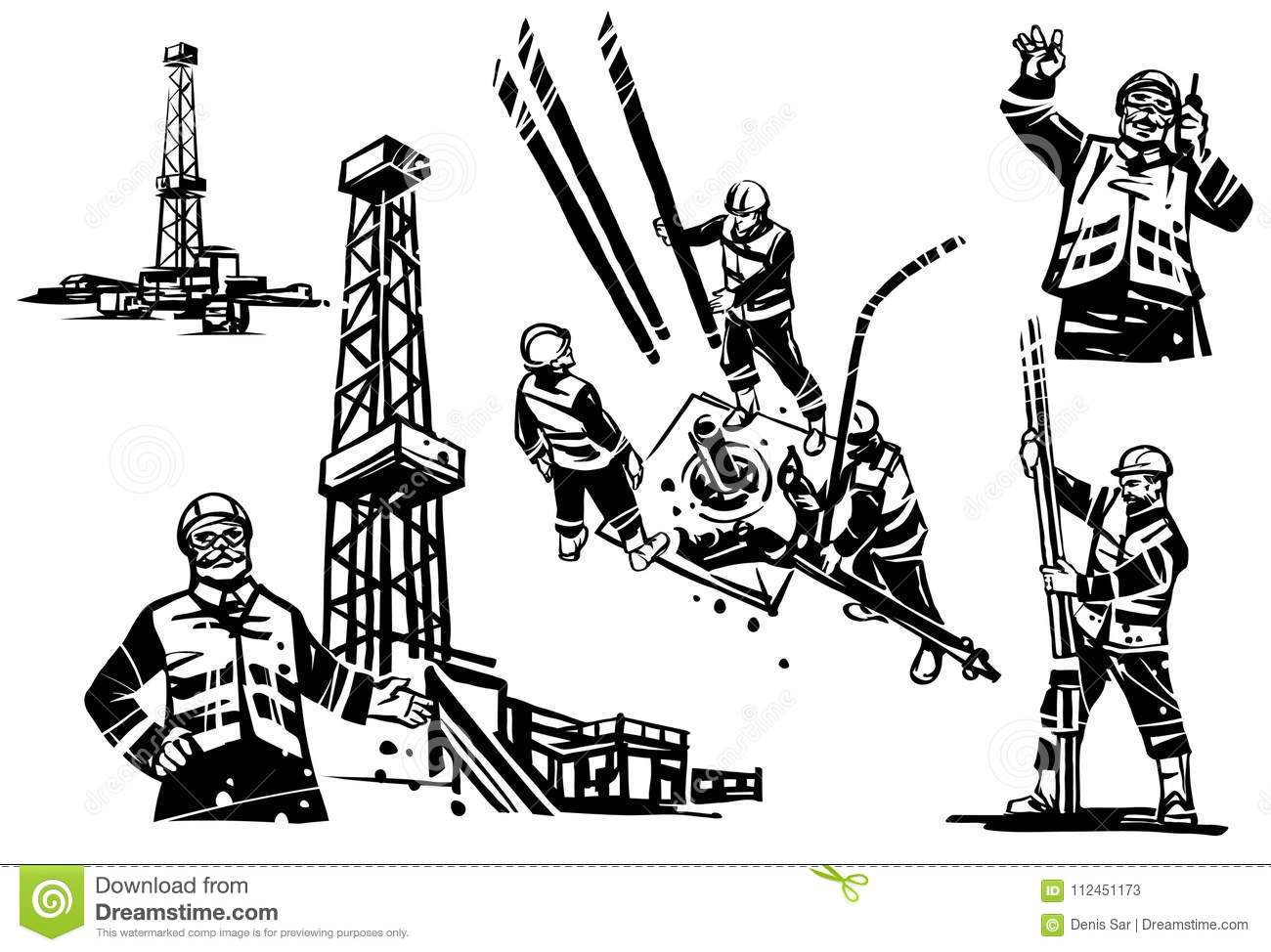 drilling cartoons  illustrations  u0026 vector stock images
