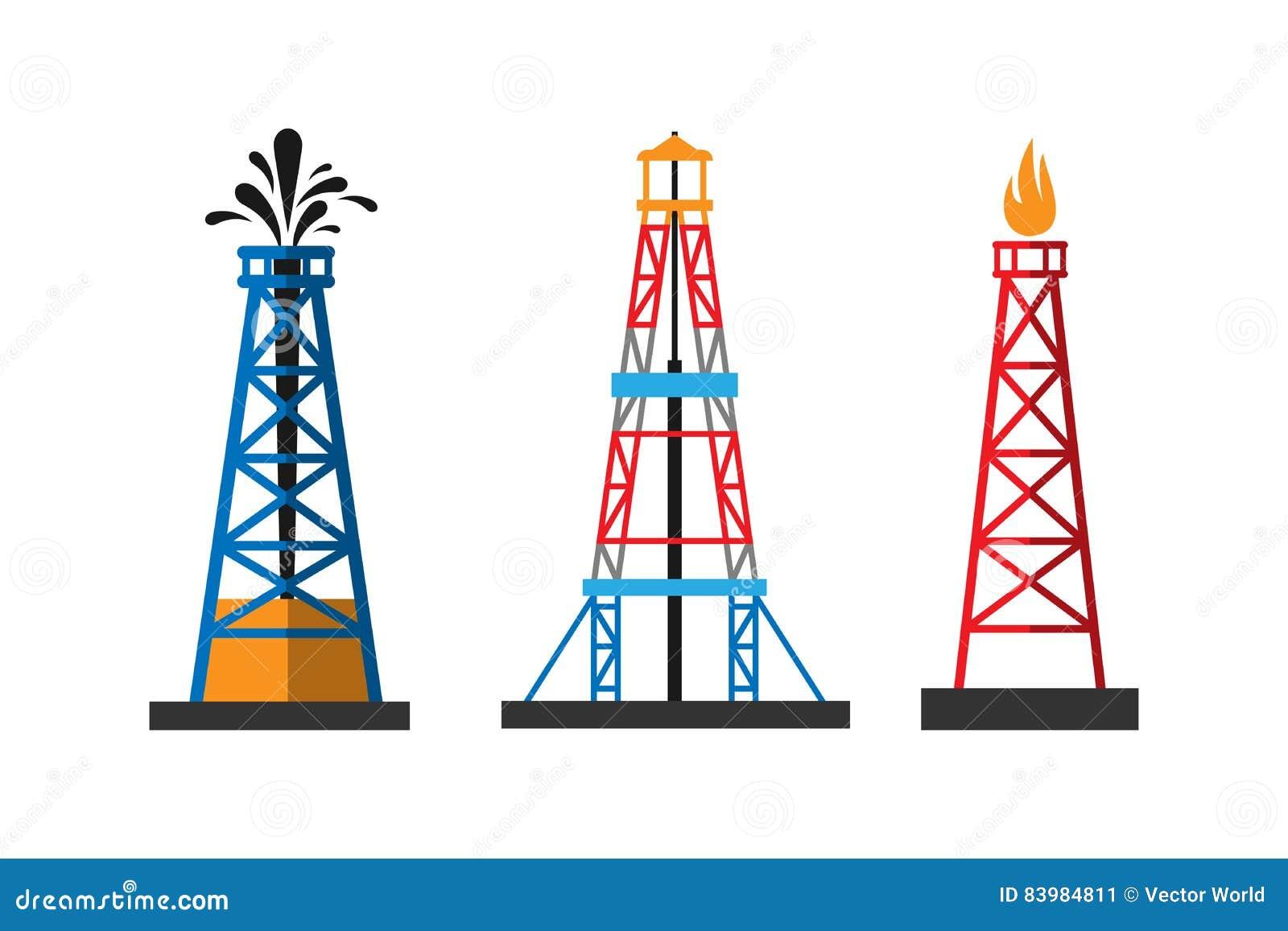 Oil Extraction Platform Vector Illustration Stock Vector ...