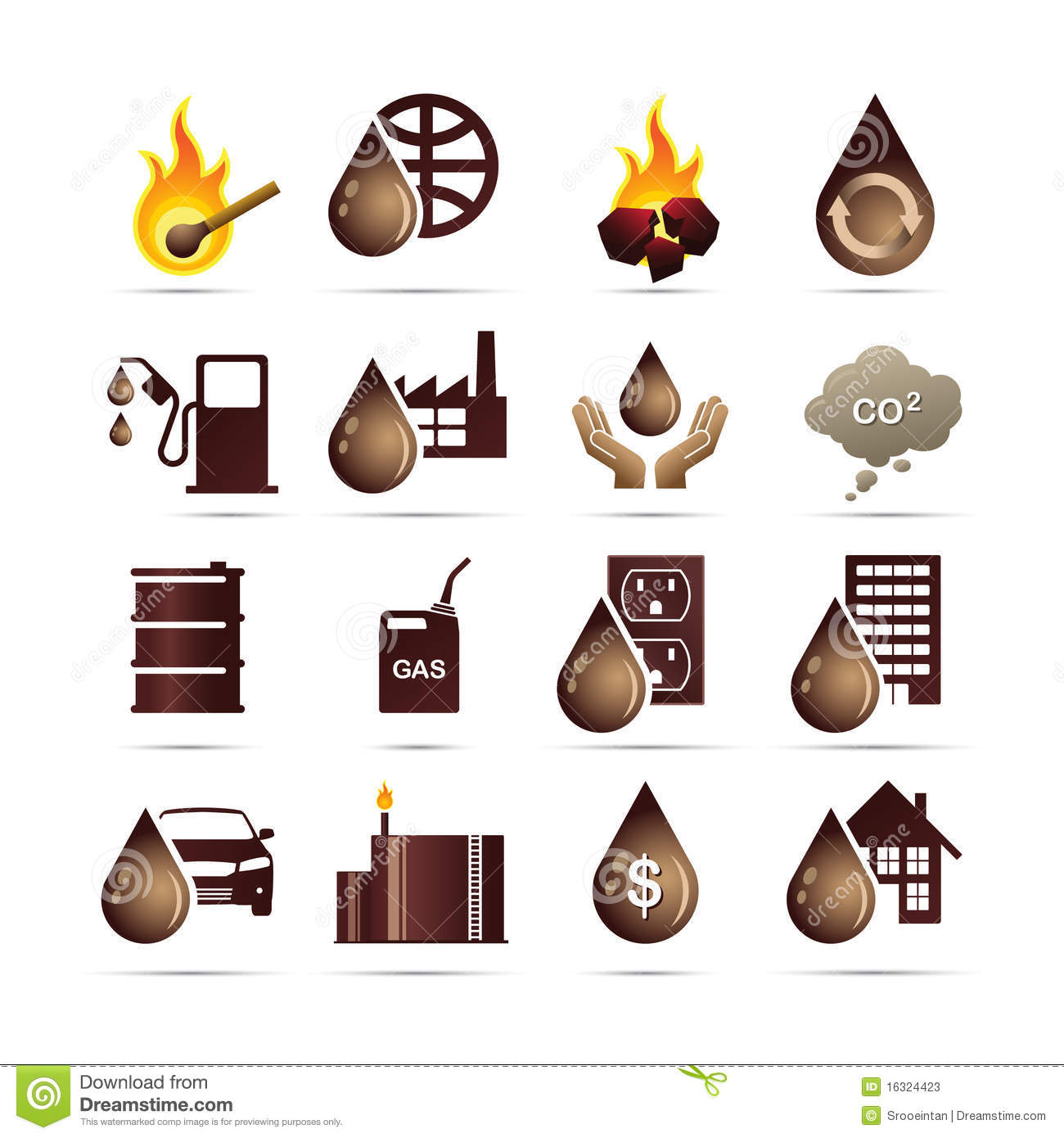 Oil And Fossil Fuel Energy Icons Stock Vector ... Electricity Symbols Clip Art