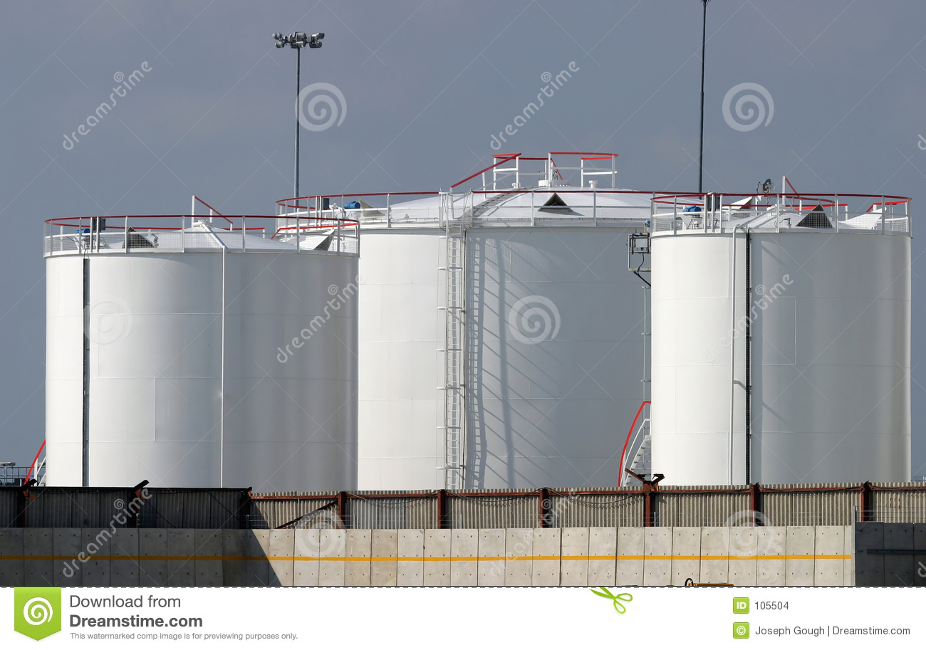 Oil Fuel Industrial Storage Tanks Stock Images Image 105504