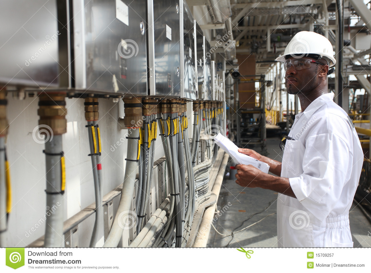 Oil & Gas Electrical Engineer Stock Image - Image: 15709257