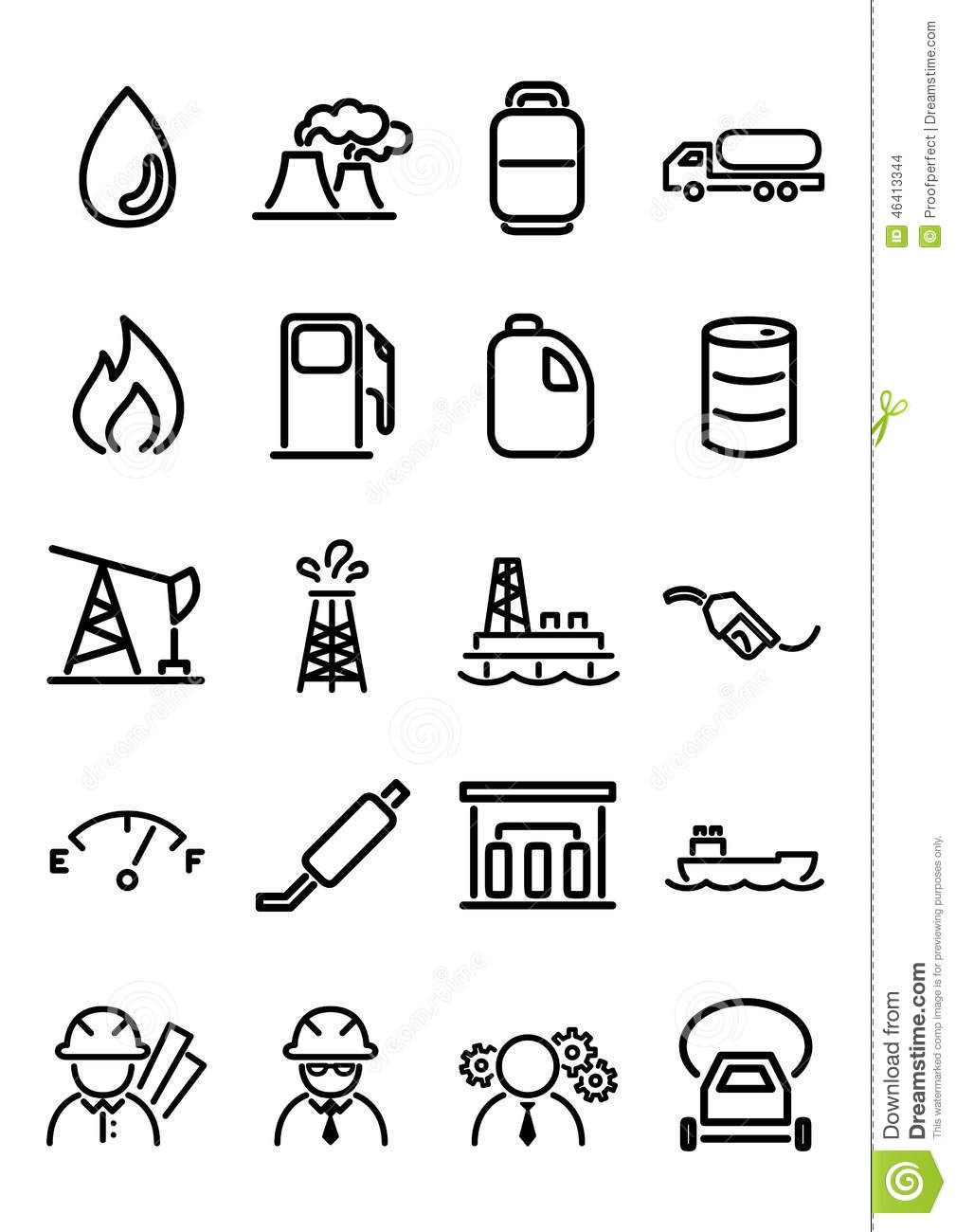 Oil Amp Gas Icons Stock Illustration Image Of Digital