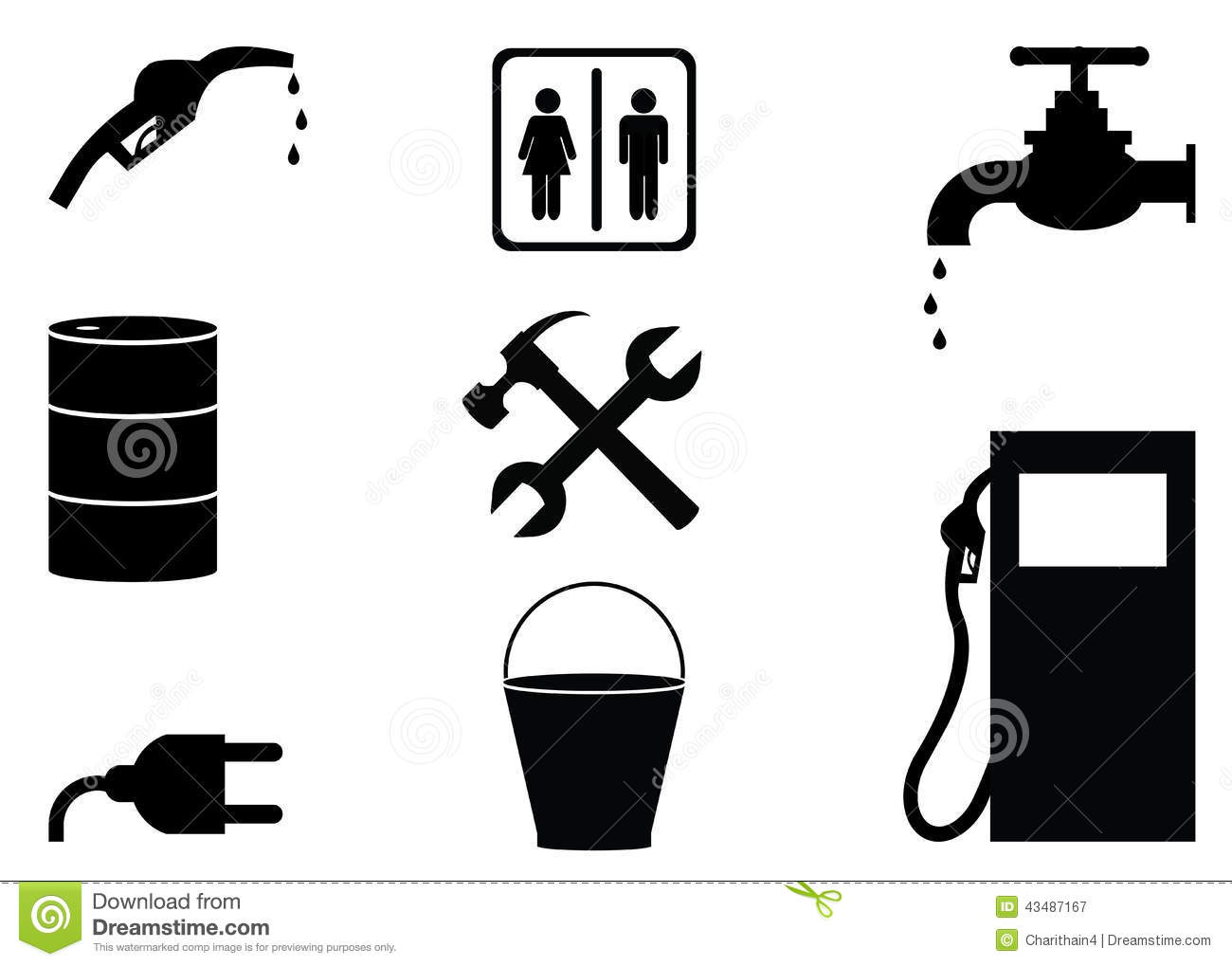 Oil and gas industry black and white icons stock illustration oil and gas industry black and white icons biocorpaavc