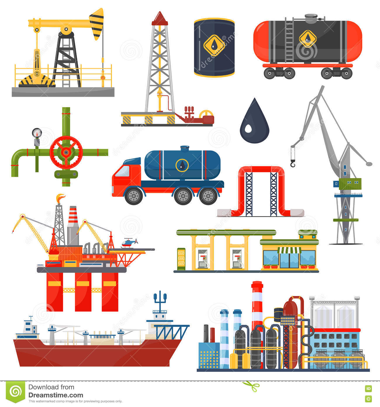 84e90c43ed81 Oil gas industry infographics concept. Gasoline diesel fuel transportation  and distribution icons.