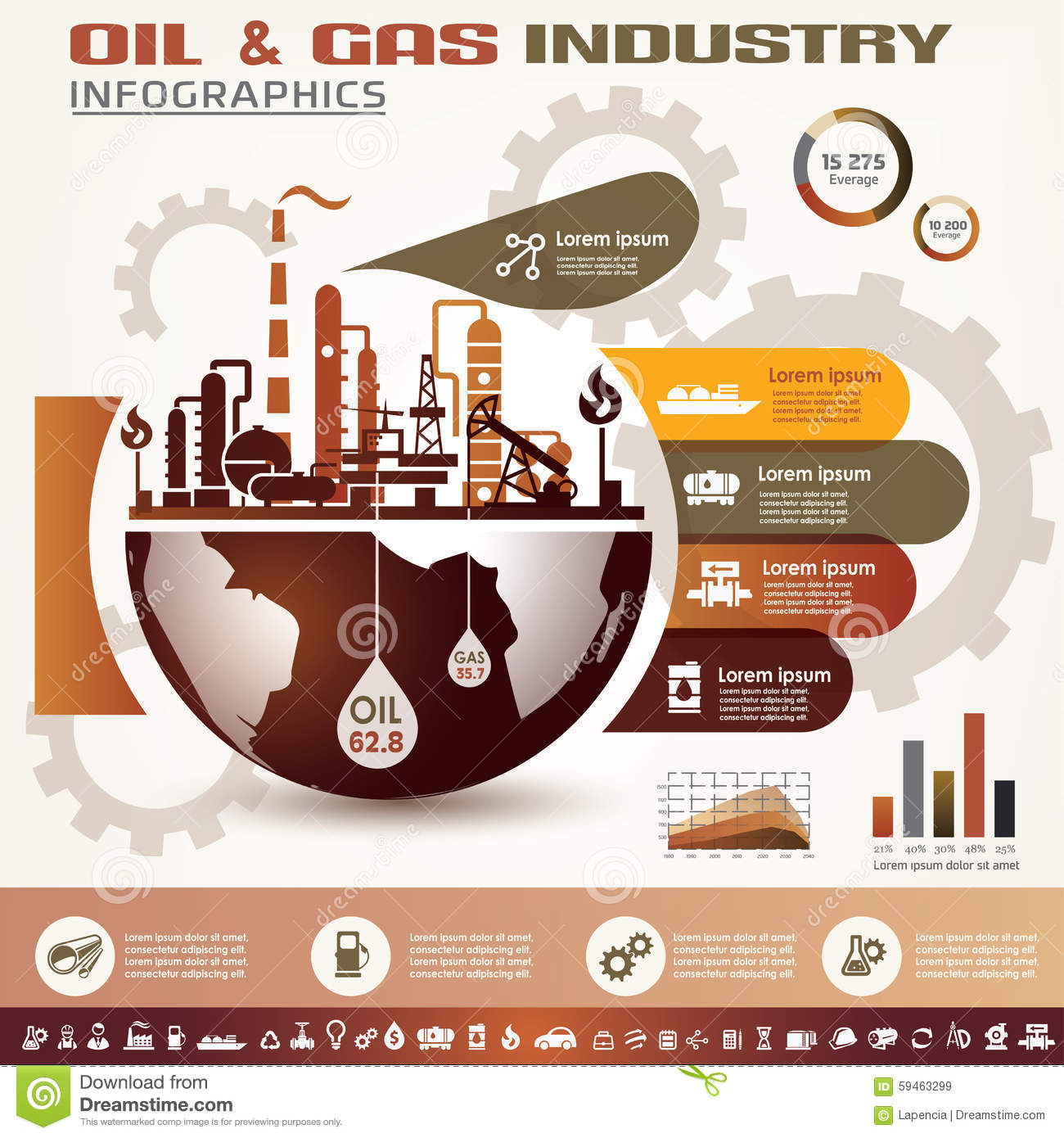 Pump It Up Prices >> Oil And Gas Industry Infographics Stock Vector - Image ...