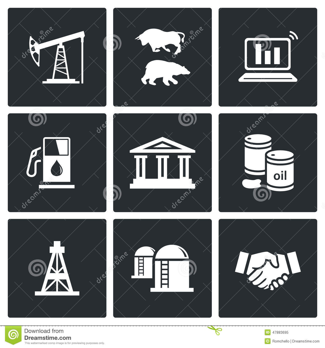 Oil and gas industry vector icons set stock illustration oil and gas industry vector icons set biocorpaavc
