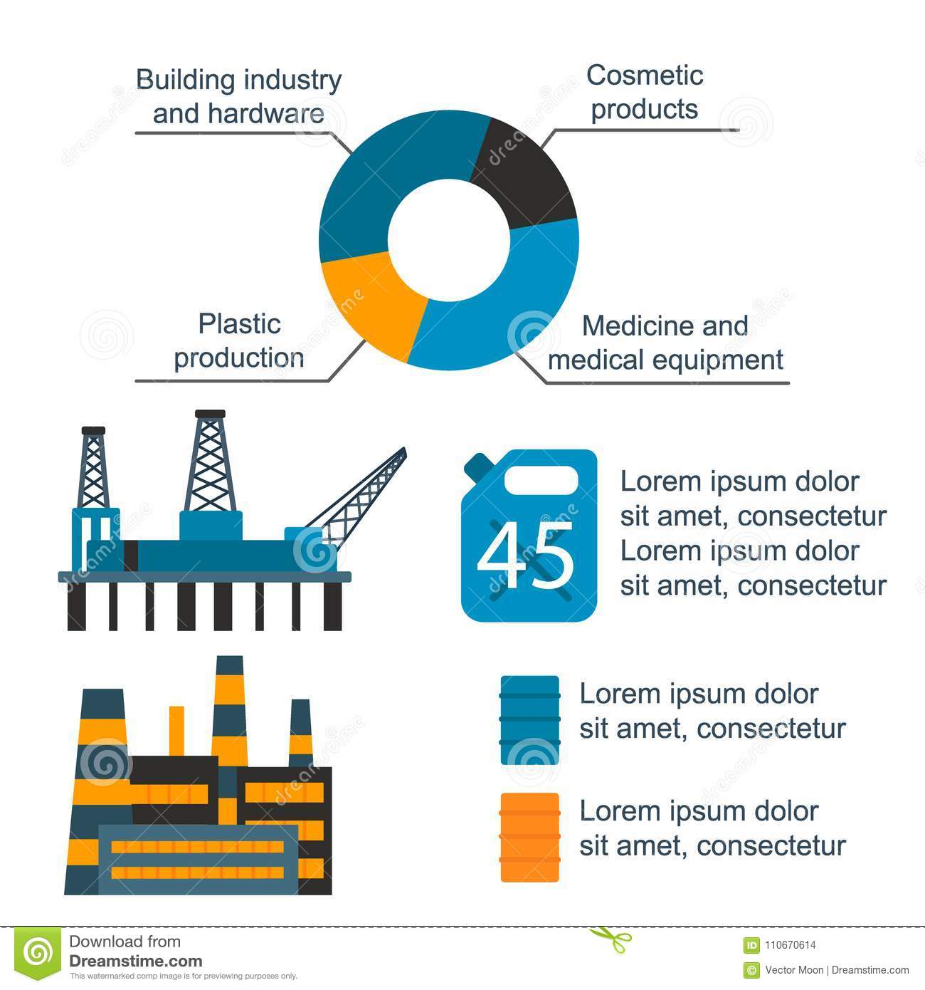 Oil Production Diagram Trusted Wiring Diagrams Process Flow And Gas Industry Vector Manufacturing Infographic World Sands
