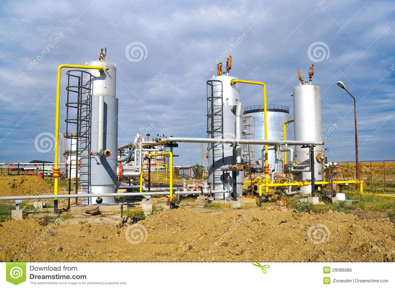 Oil And Gas Processing Plant Royalty Free Stock Image ...