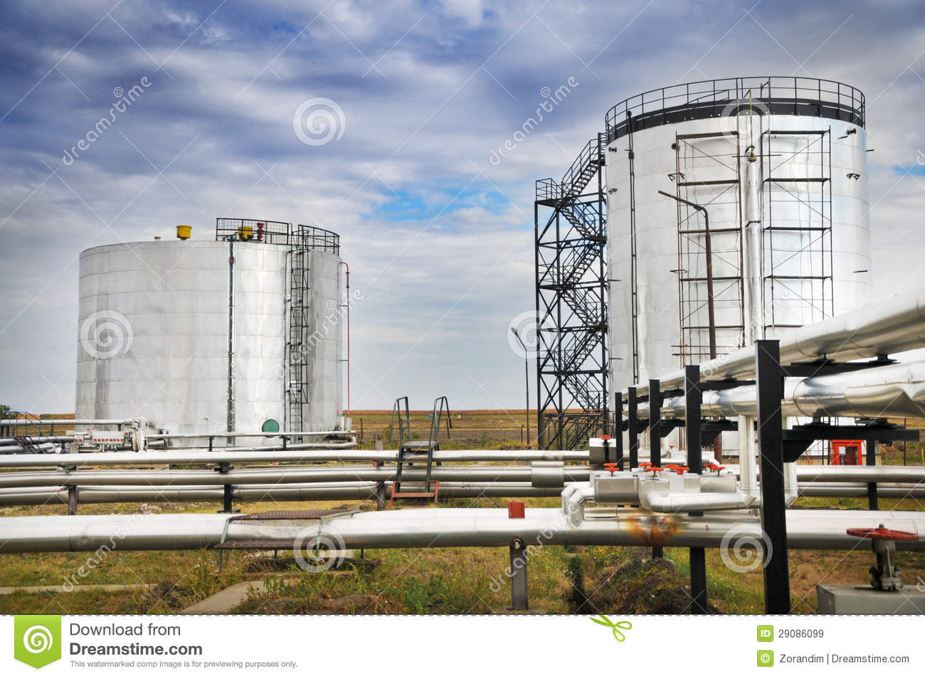 Oil And Gas Processing Plant Royalty Free Stock Images ...