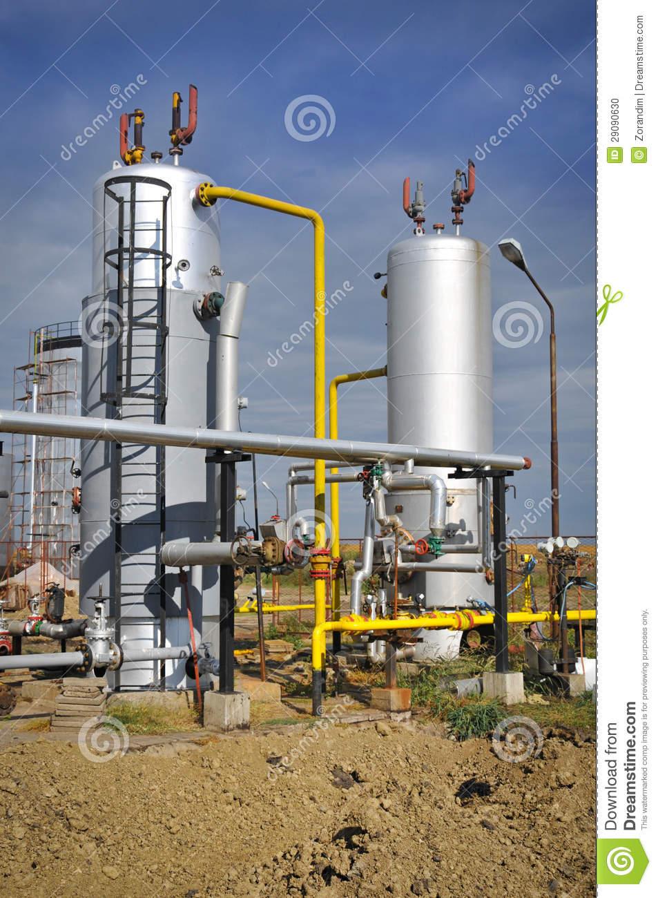 Oil And Gas Processing Plant Stock Photo - Image: 29090630