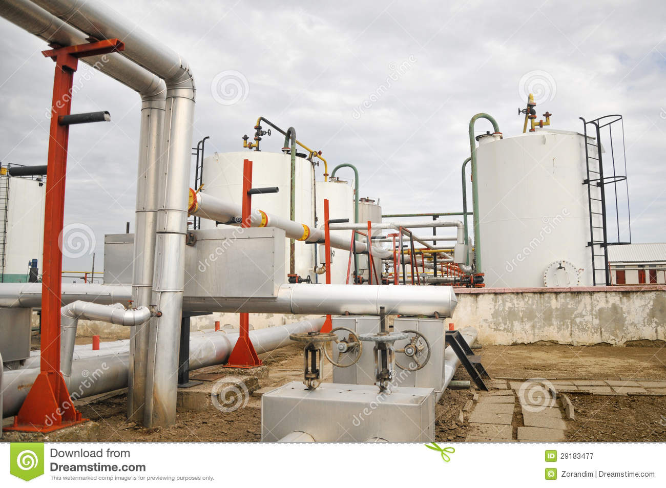 Oil And Gas Processing Plant Royalty Free Stock ...