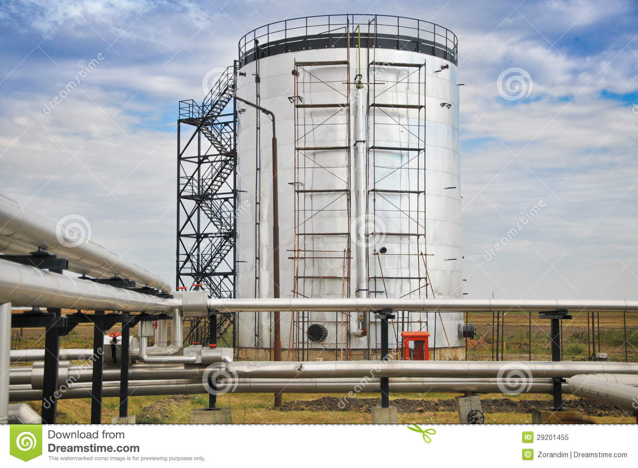 Oil And Gas Processing Plant Royalty Free Stock Photo ...