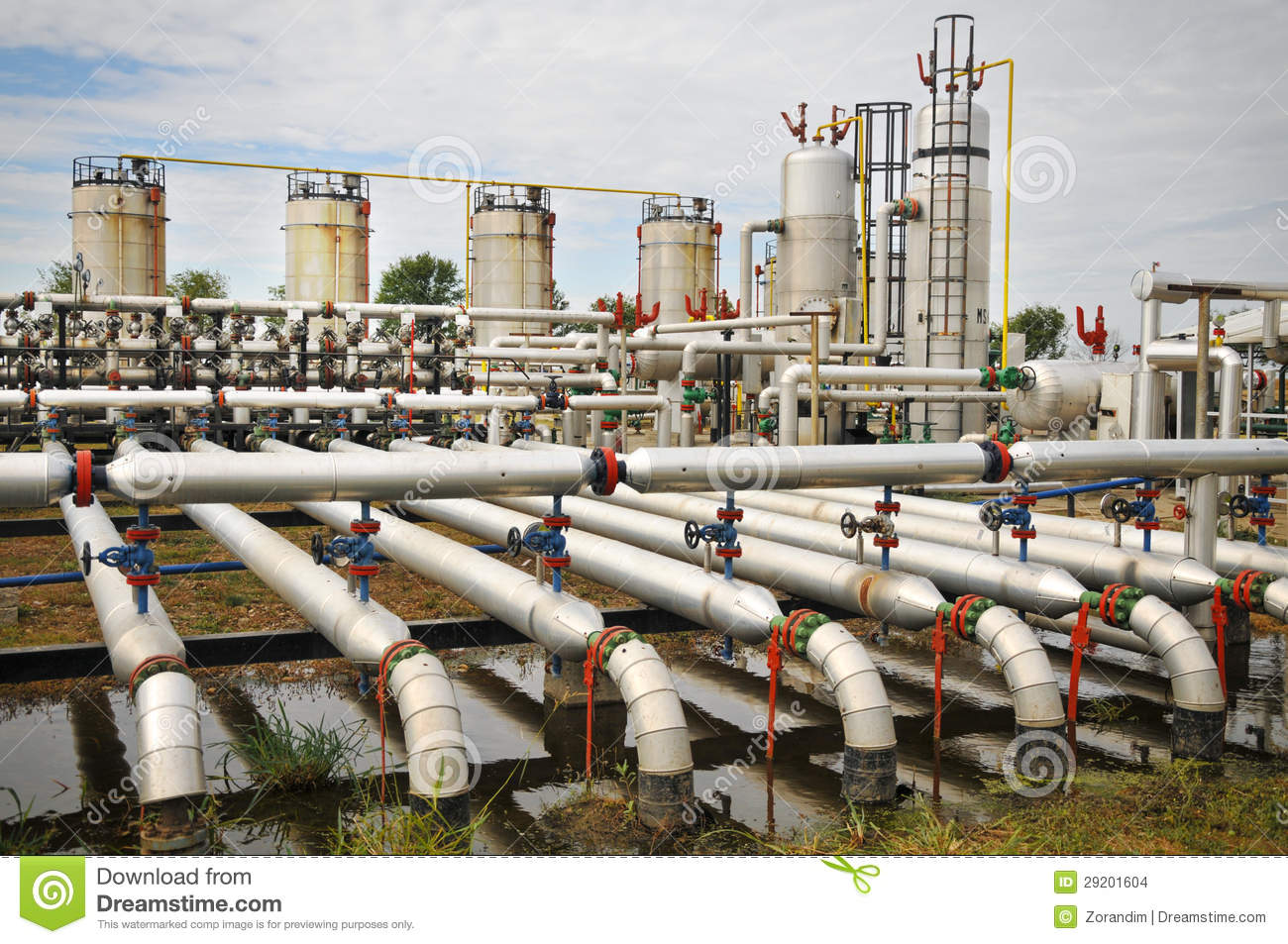 Oil And Gas Processing Plant Stock Photo Image Of Blue