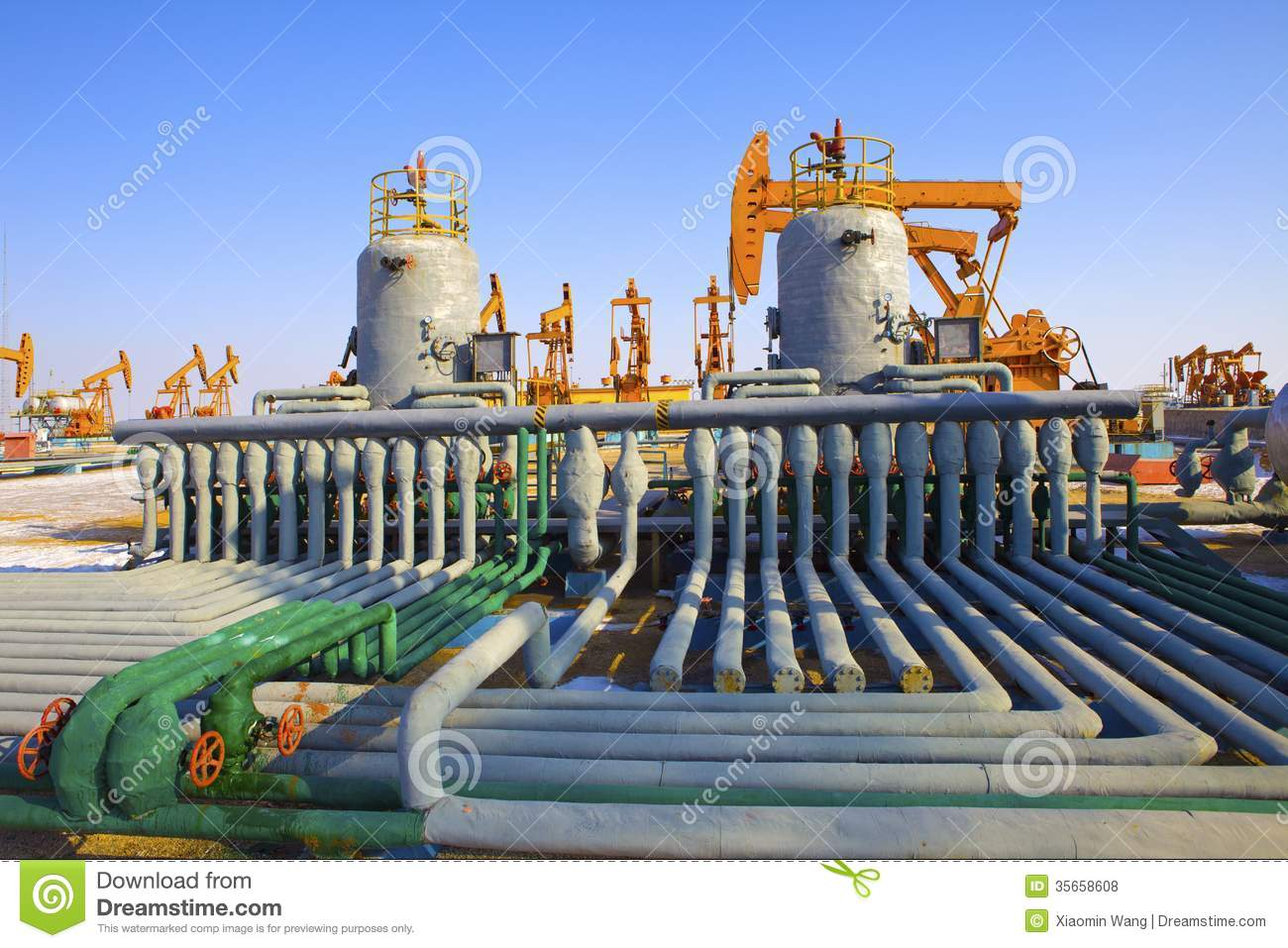 Oil And Gas Processing Plant Royalty Free Stock Photos ...