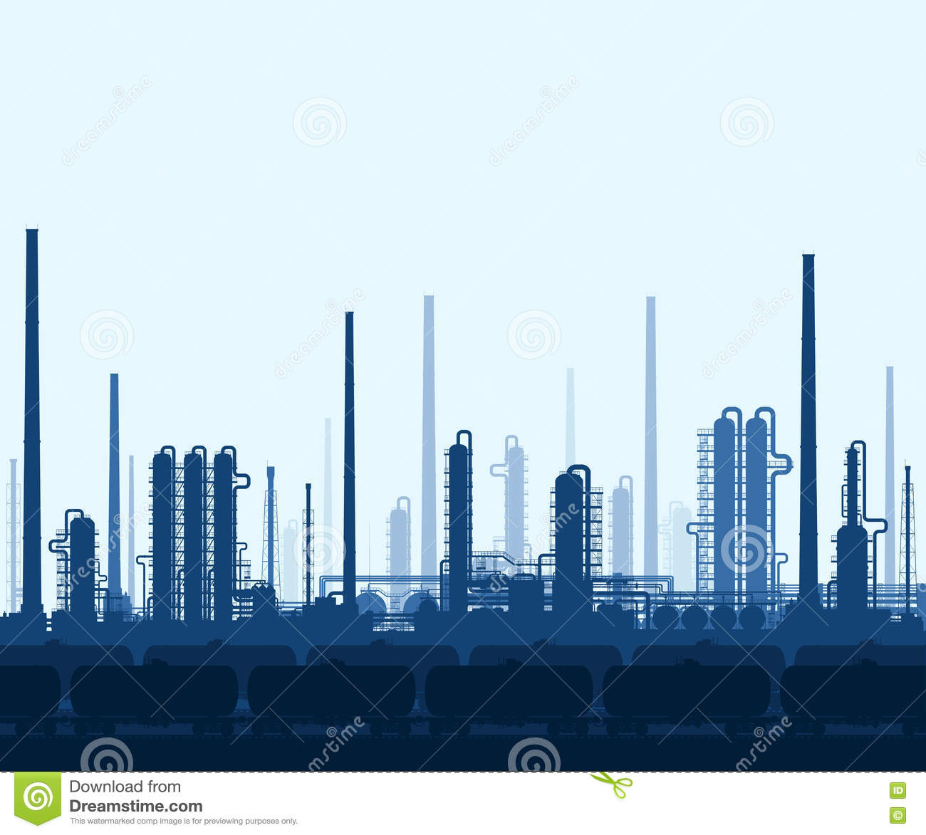 oil and gas refinery stock vector image of background